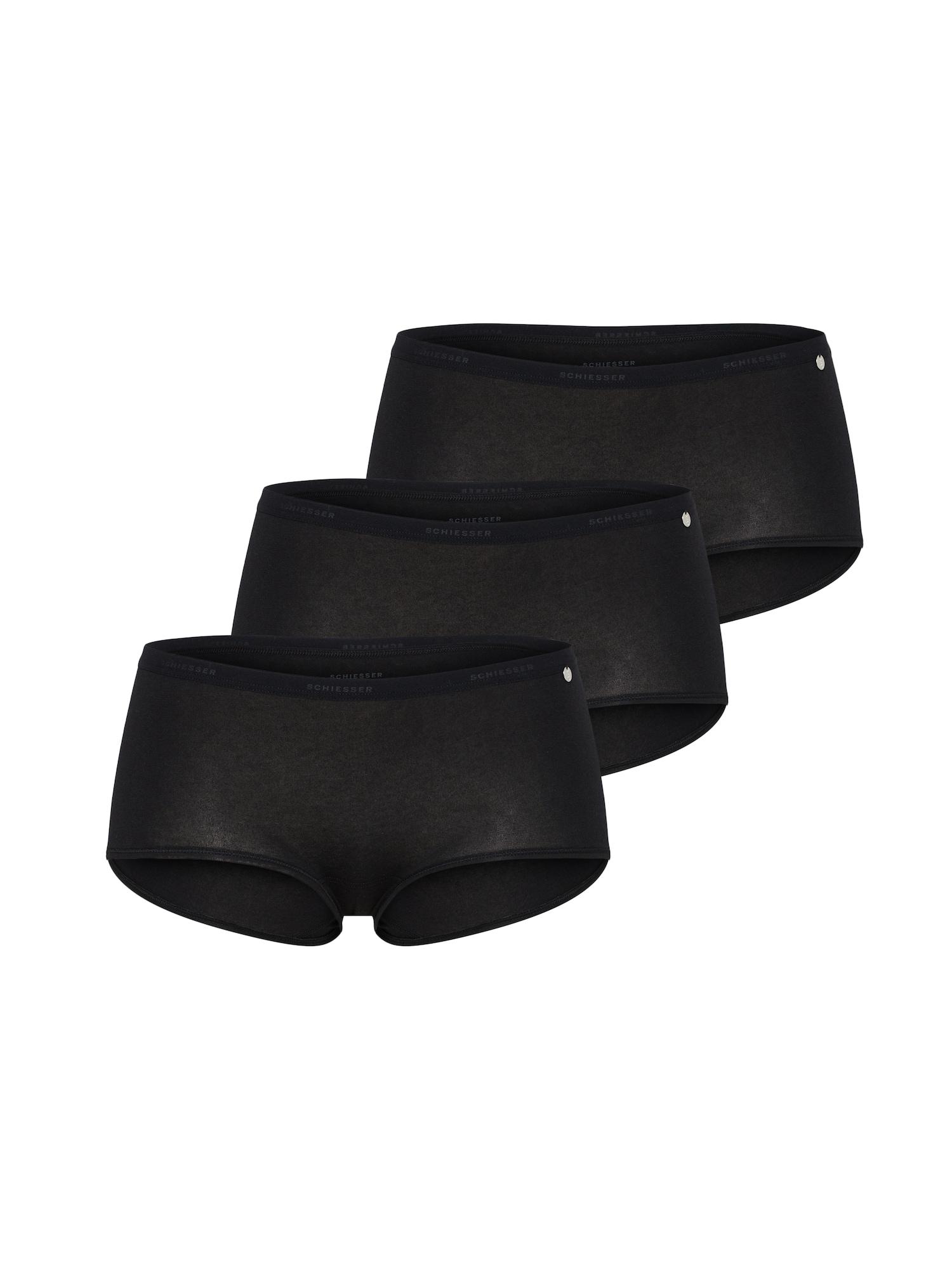 Kalhotky 3er Pack černá SCHIESSER
