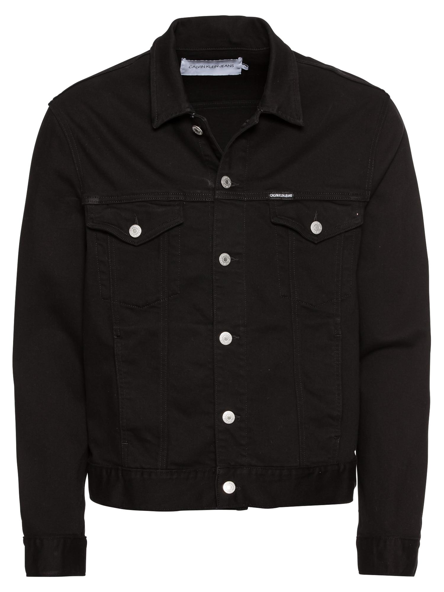 Přechodná bunda CLASSIC TRUCKER černá džínovina Calvin Klein Jeans