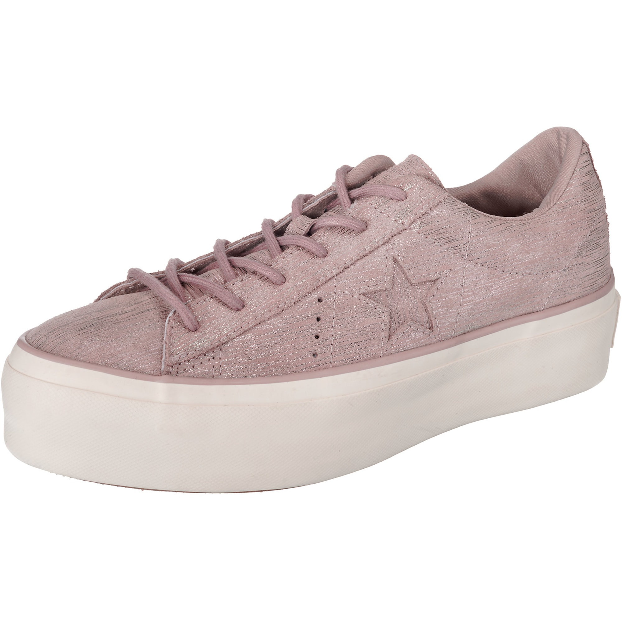 CONVERSE, Dames Sneakers laag 'One Star Platform - OX', taupe / wit