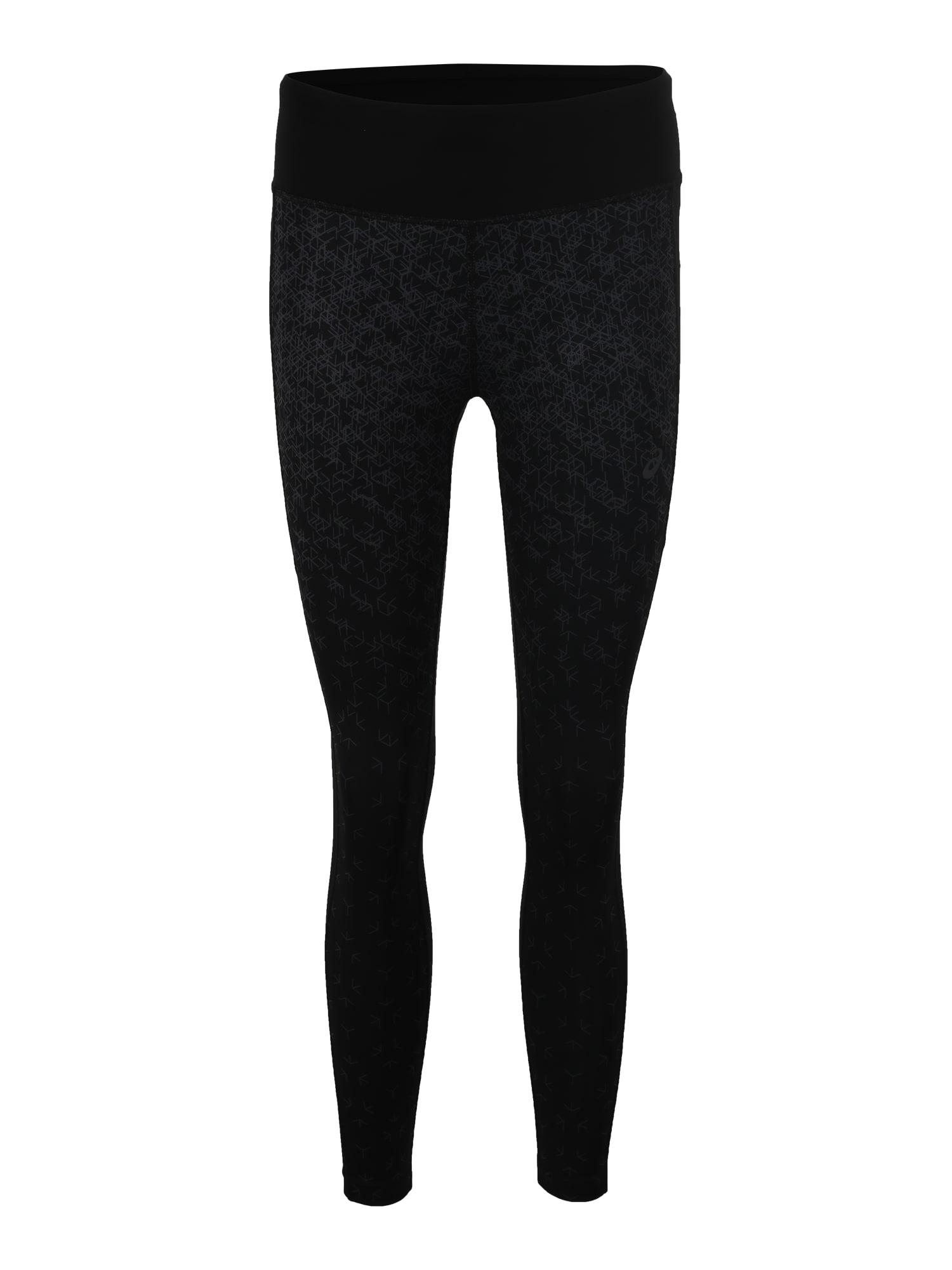 Sportovní kalhoty CROP TIGHT PRINT černá ASICS