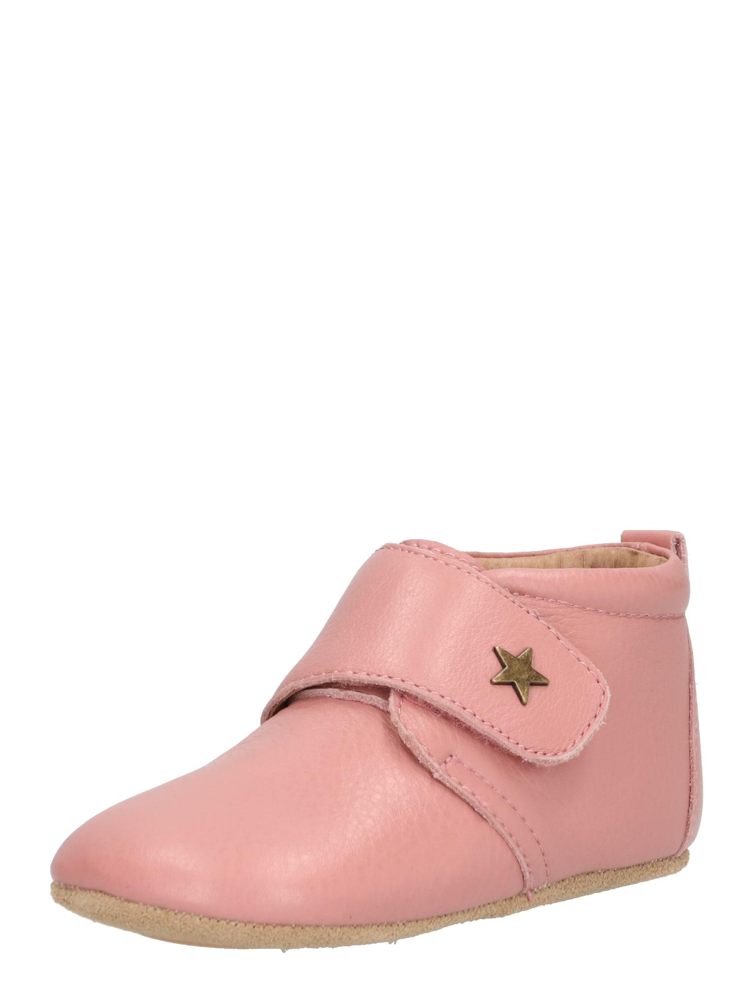 Polobotky HOME SHOE - VELCRO STAR růžová BISGAARD
