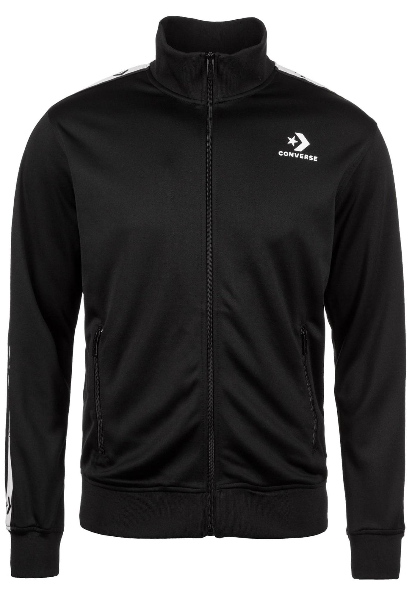 Trainingsjacke 'Chevron' | Sportbekleidung > Sportjacken > Trainingsjacken | Schwarz | Converse