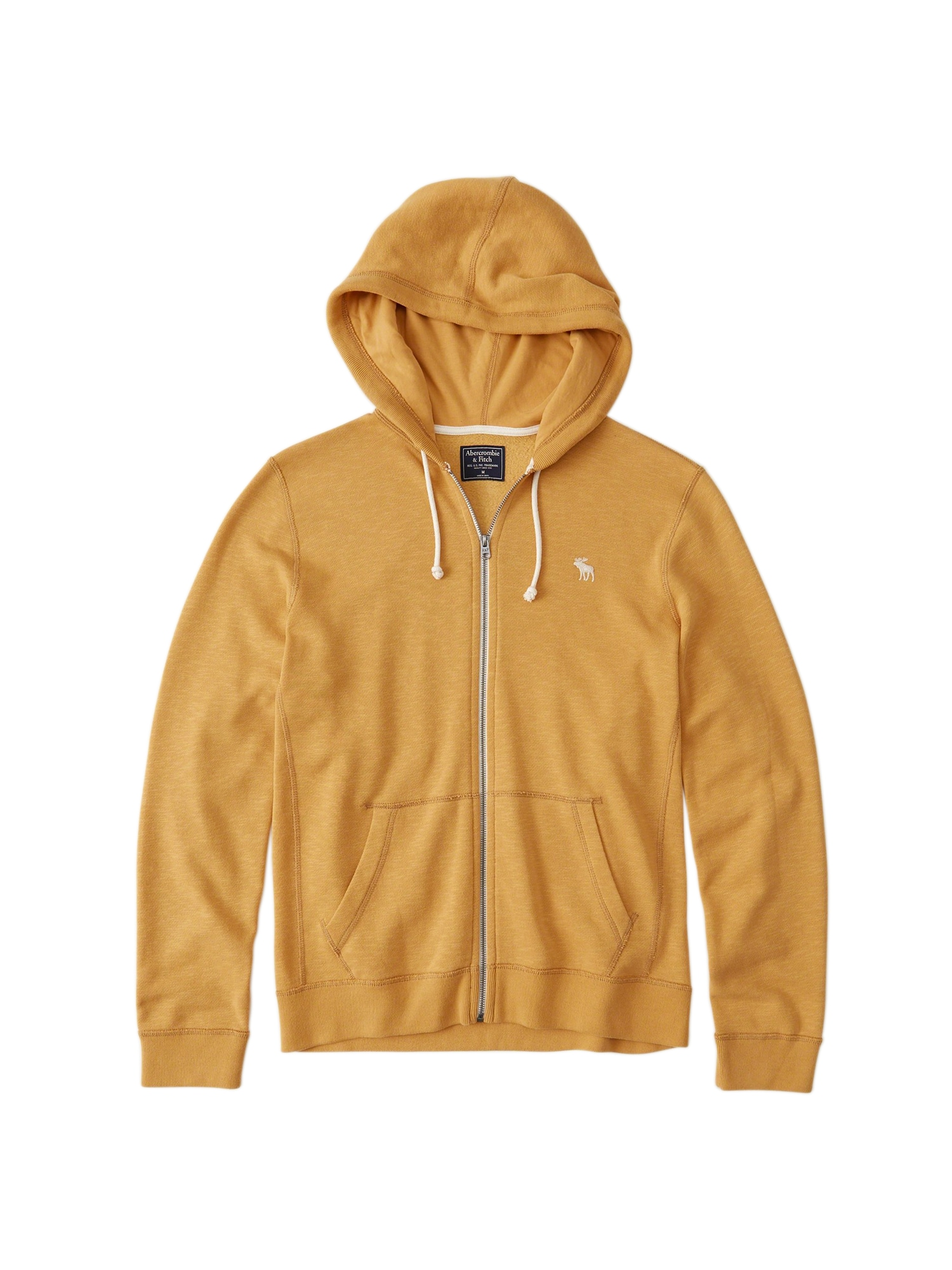 Mikina s kapucí GBL FULLZIP tmavě žlutá Abercrombie & Fitch