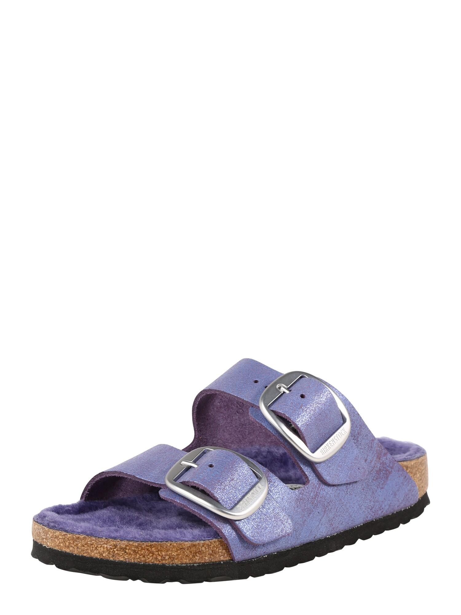 Pantofle Arizona Big Buckle fialová BIRKENSTOCK