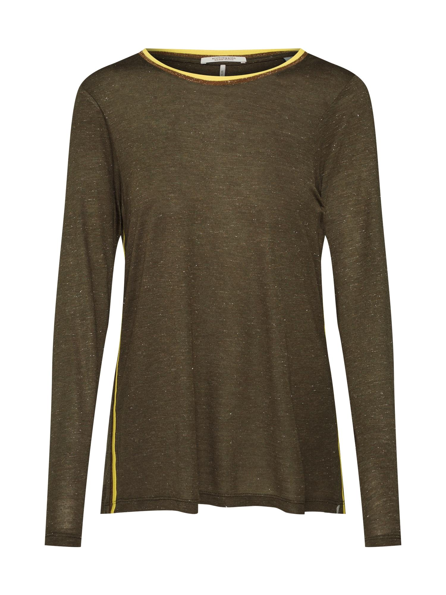 Tričko žlutá zlatá olivová SCOTCH & SODA