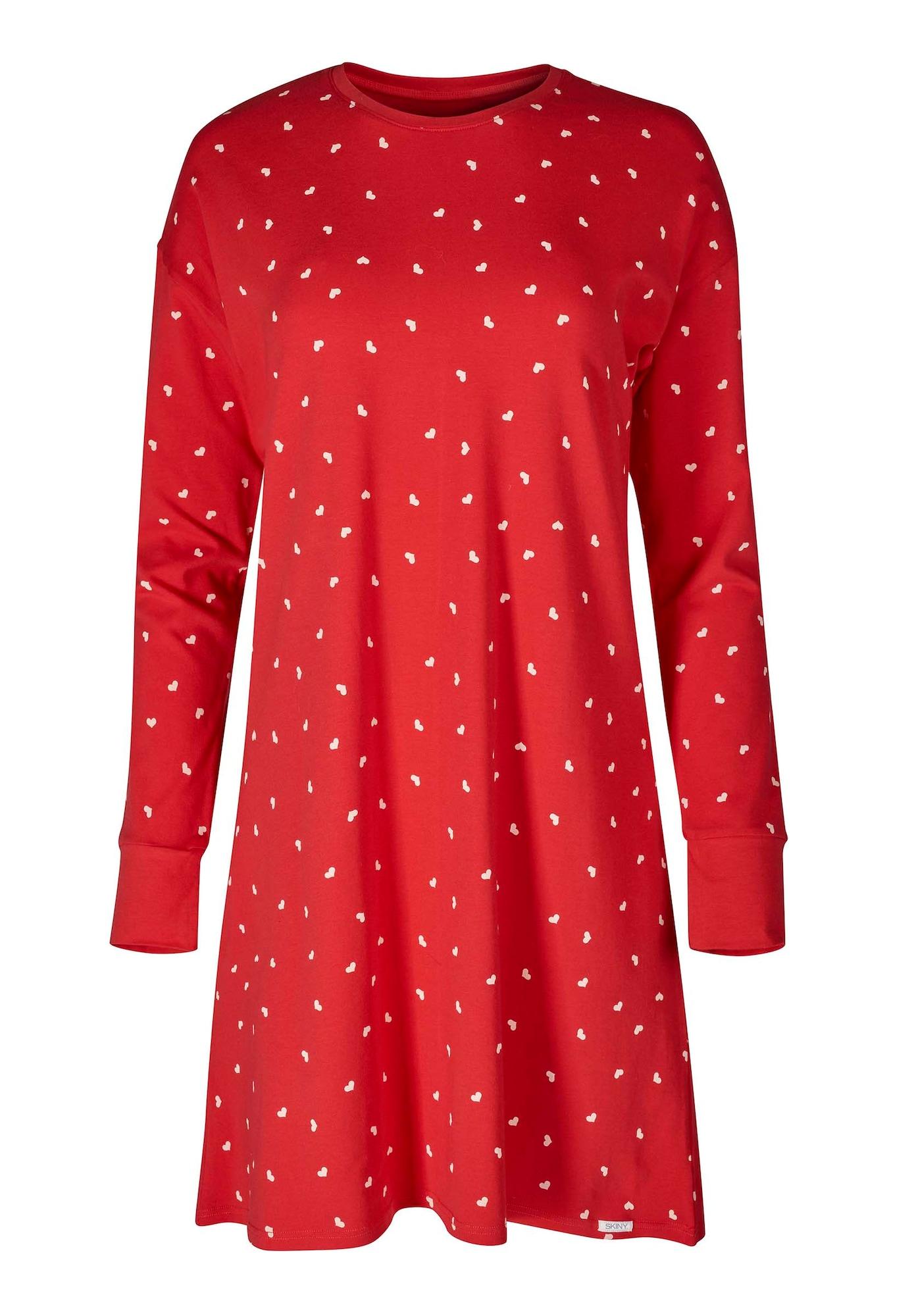 Skiny Koszula nocna  czerwony / biały