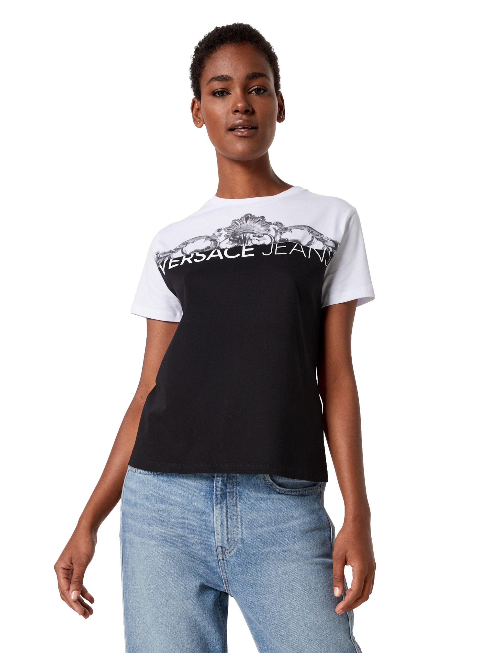 Versace Jeans Koszulka  czarny / biały