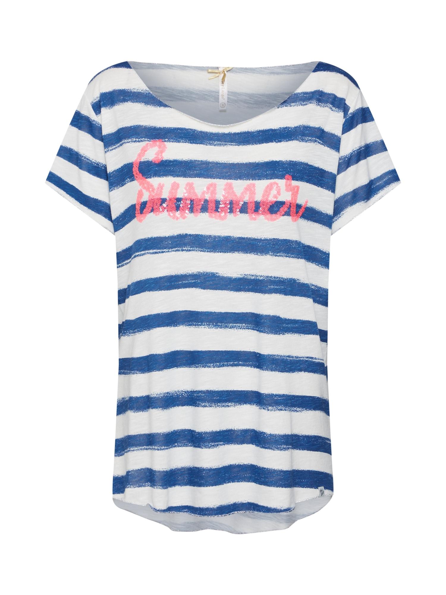 Tričko béžová modrá pink Key Largo