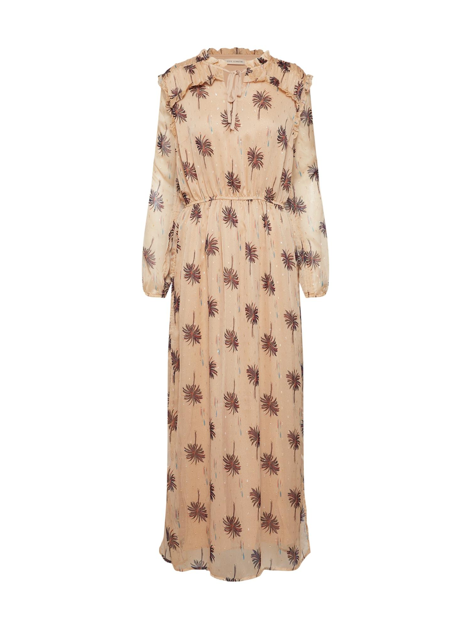 Letní šaty S191228 béžová mix barev Sofie Schnoor
