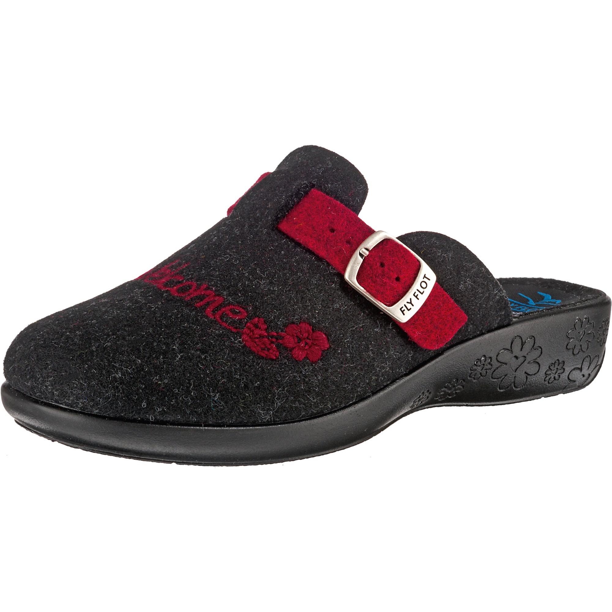 Pantoffeln | Schuhe > Hausschuhe > Pantoffeln | Anthrazit - Rot | FLY FLOT