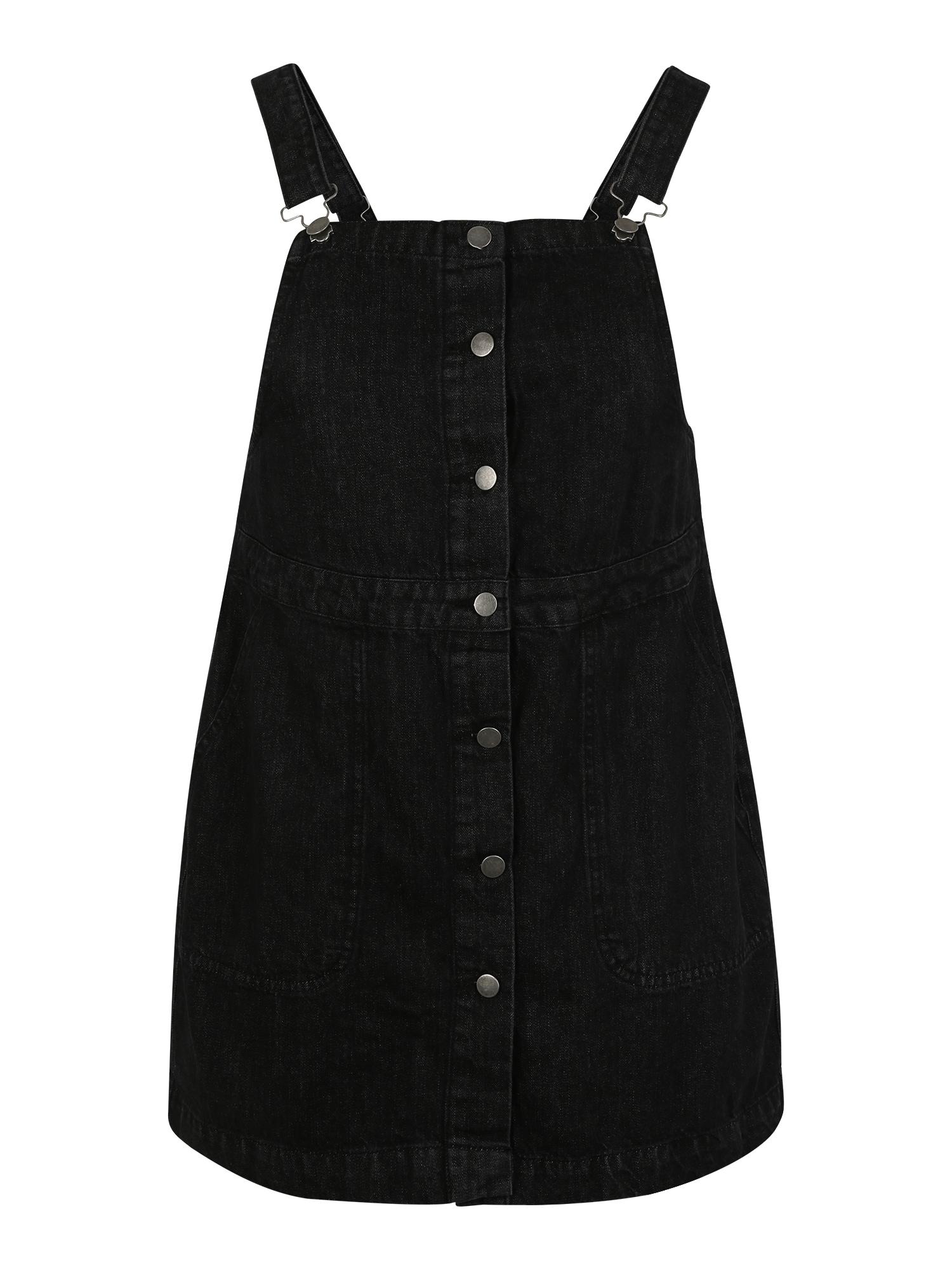 Laclová sukně černá džínovina Urban Classics Curvy