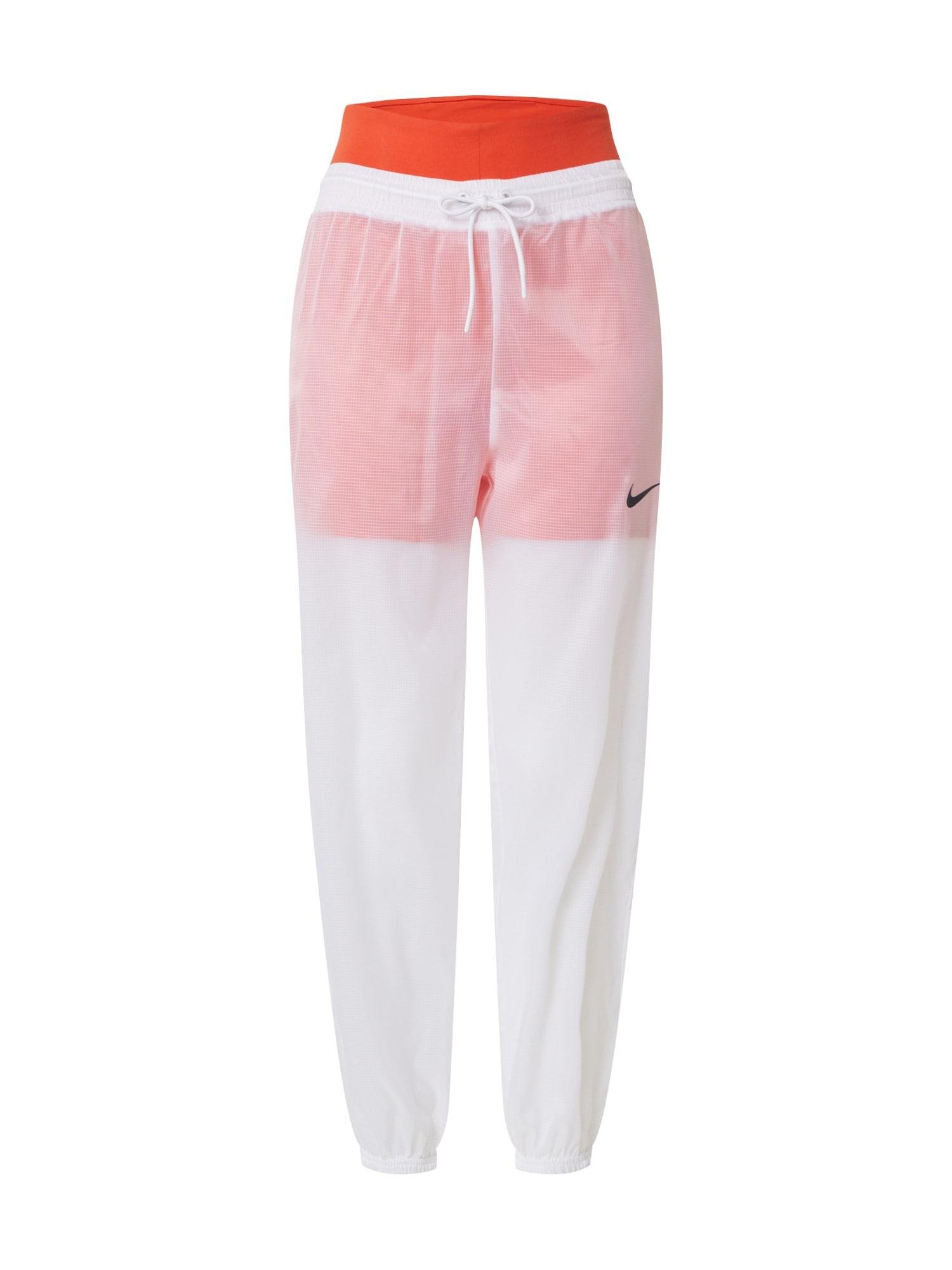 Nike Sportswear Kalhoty  bílá / oranžová