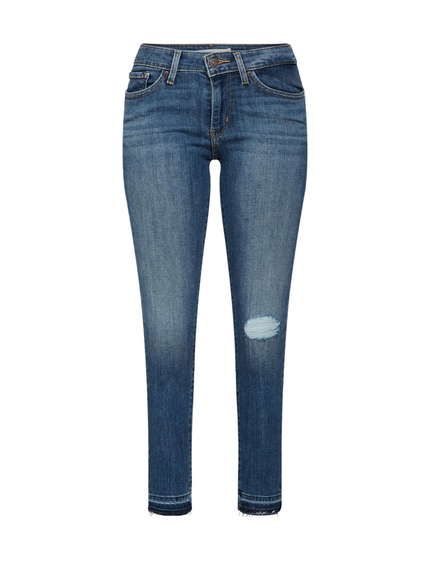 LEVI'S Dames Jeans 711 SKINNY ANKLE blauw denim