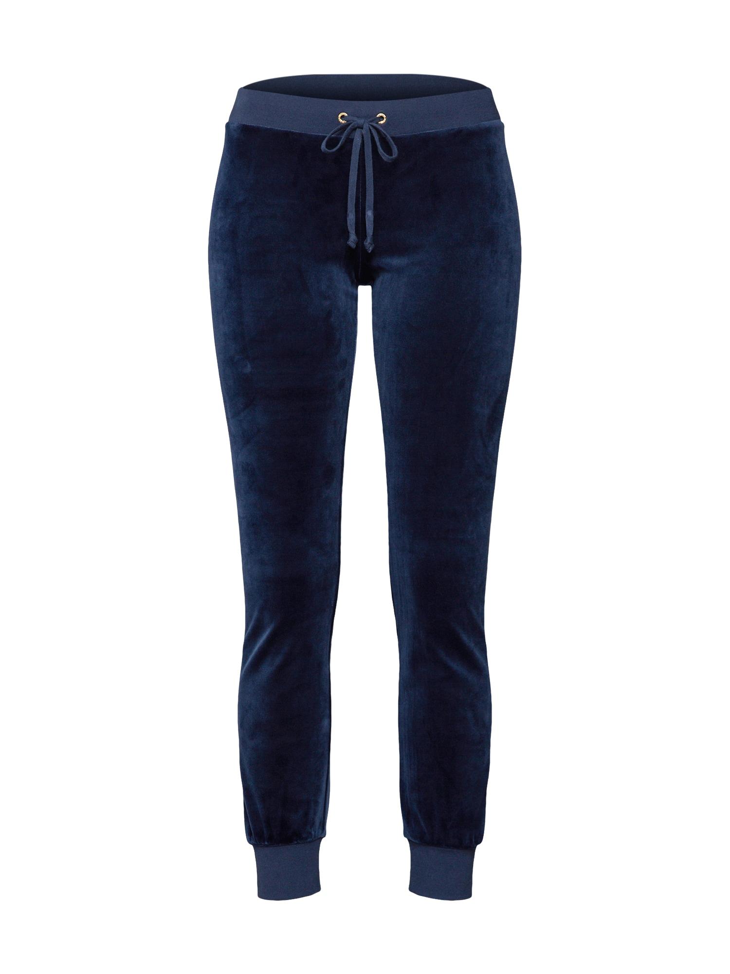 Kalhoty LUXE VELOUR ZUMA námořnická modř Juicy Couture Black Label