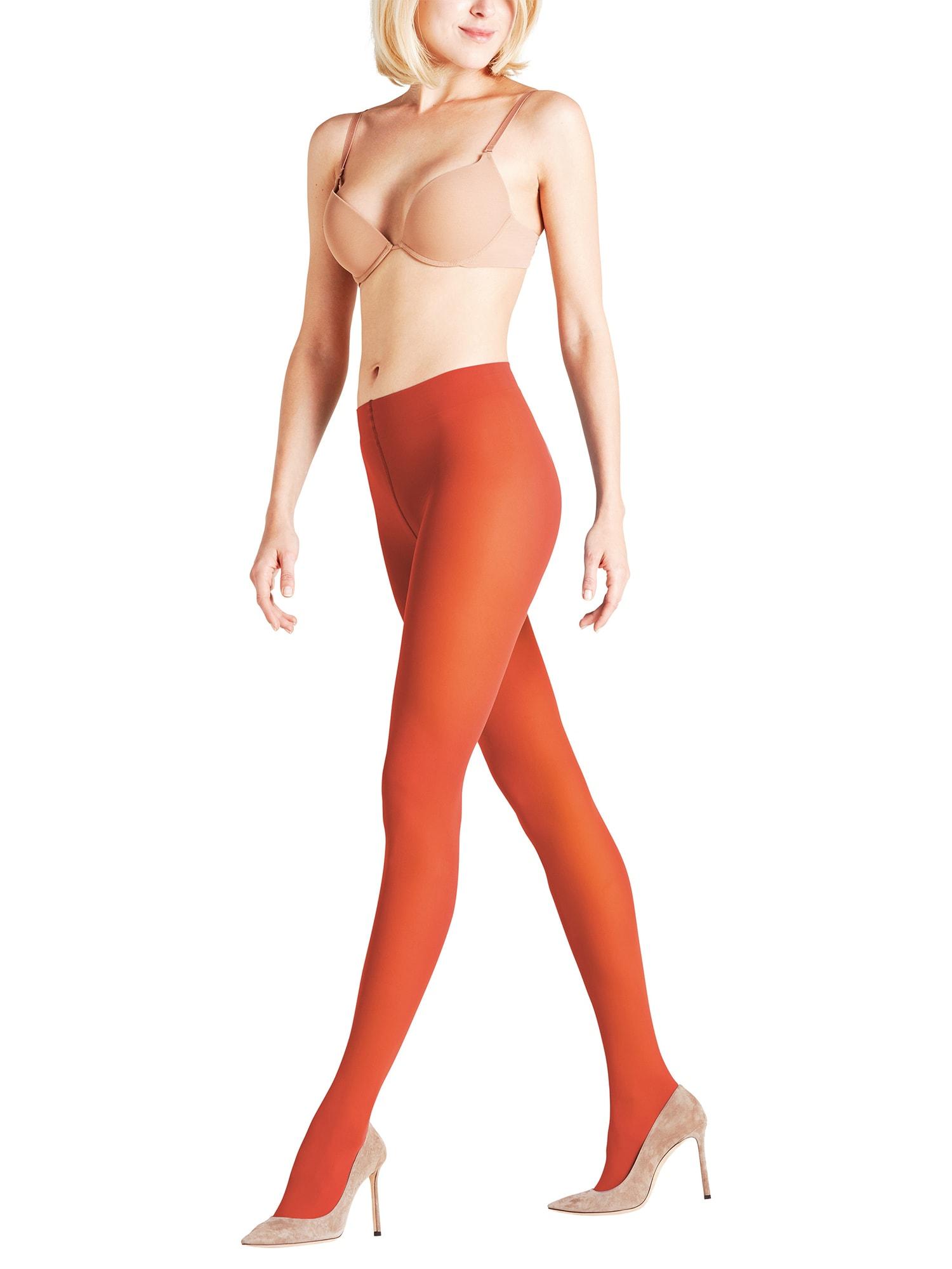Punčocháče Pure Matt 50 tmavě oranžová FALKE