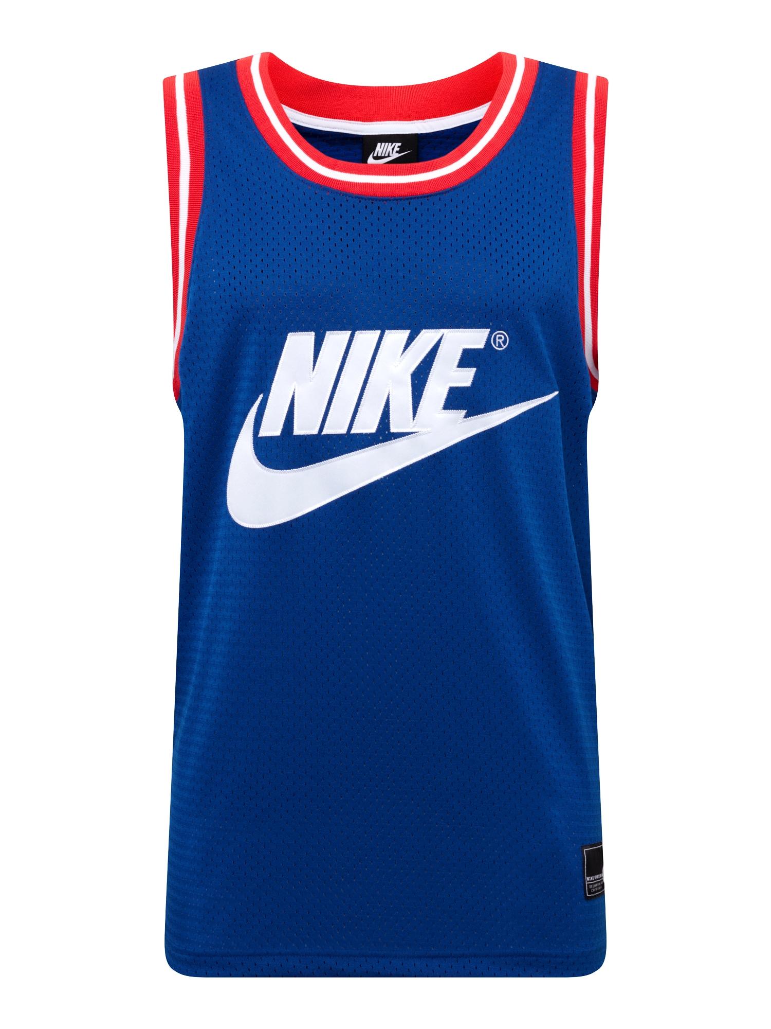 Tričko modrá červená bílá Nike Sportswear