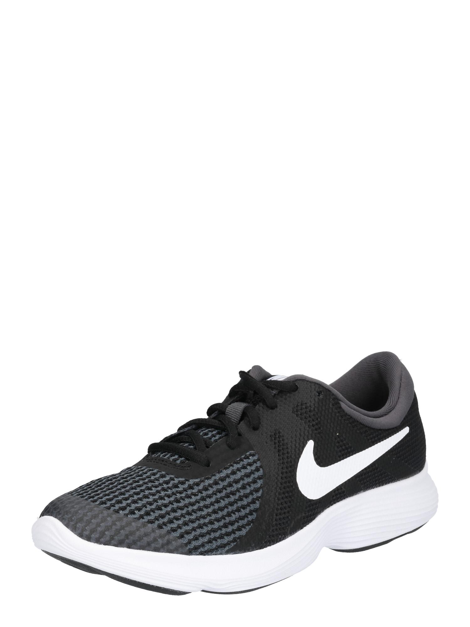 Sportovní boty Revolution 4 (GS) černá bílá NIKE