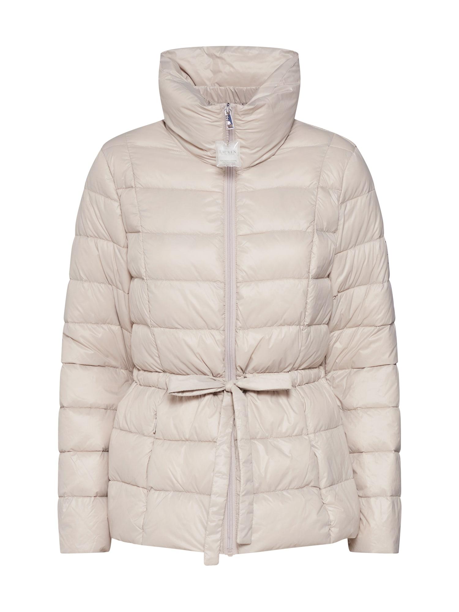 Zimní bunda PACKABLE RB-JACKET krémová Lauren Ralph Lauren