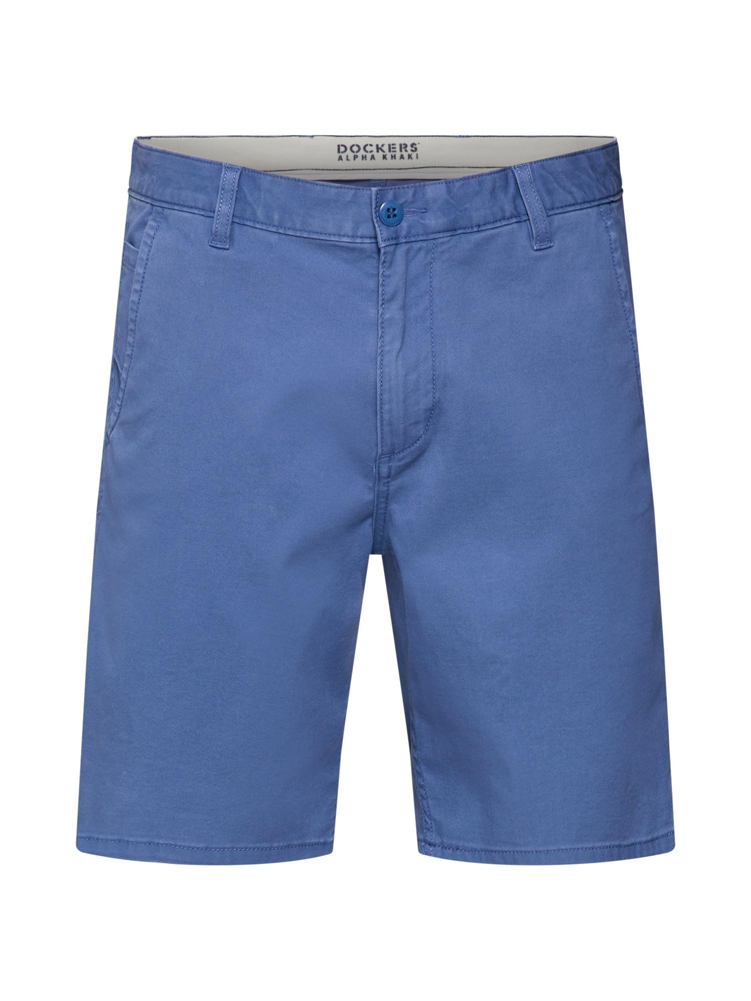 Chino kalhoty ALPHA SHORT - STRETCH TWILL modrá Dockers