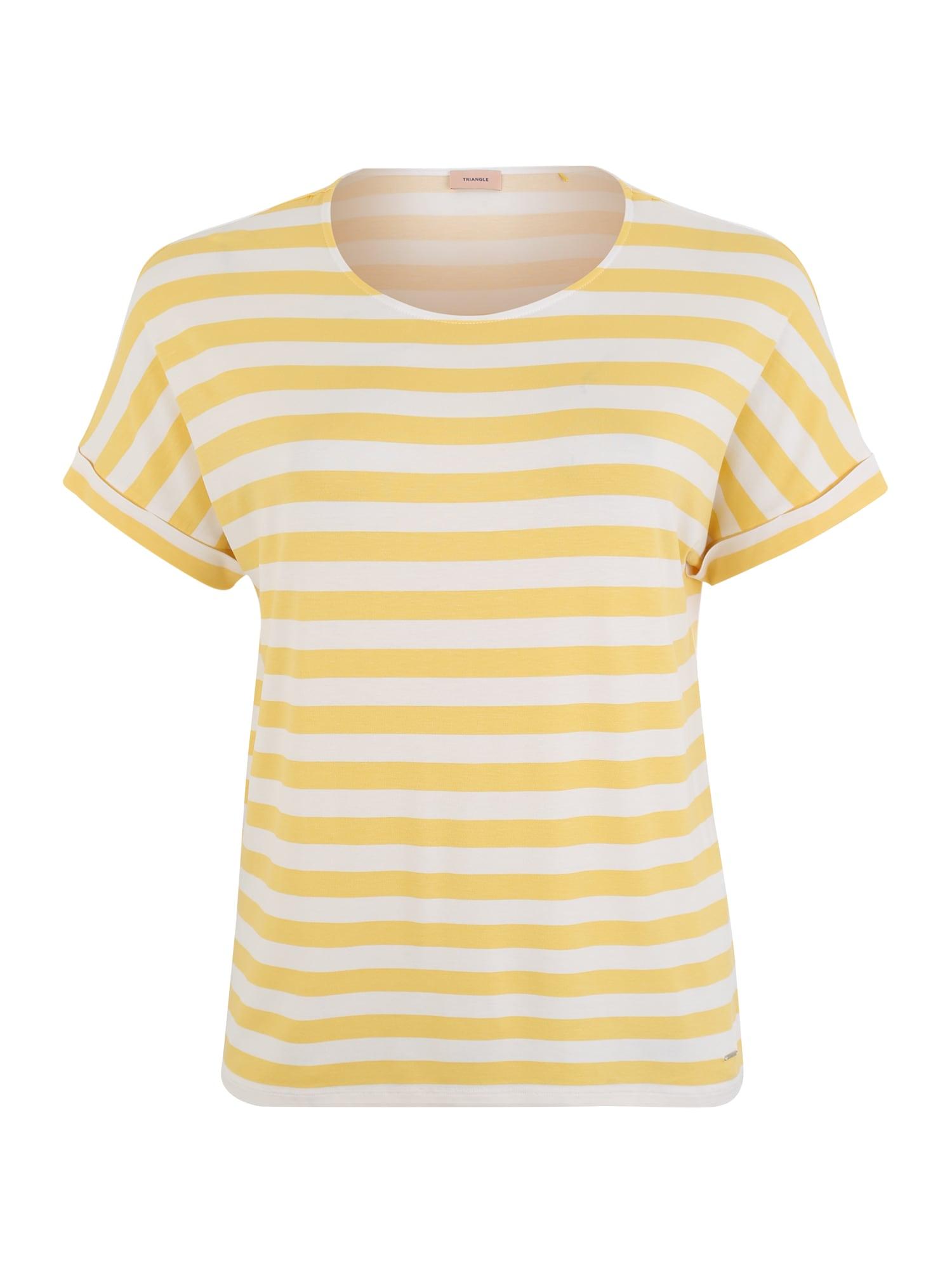 Tričko žlutá bílá TRIANGLE