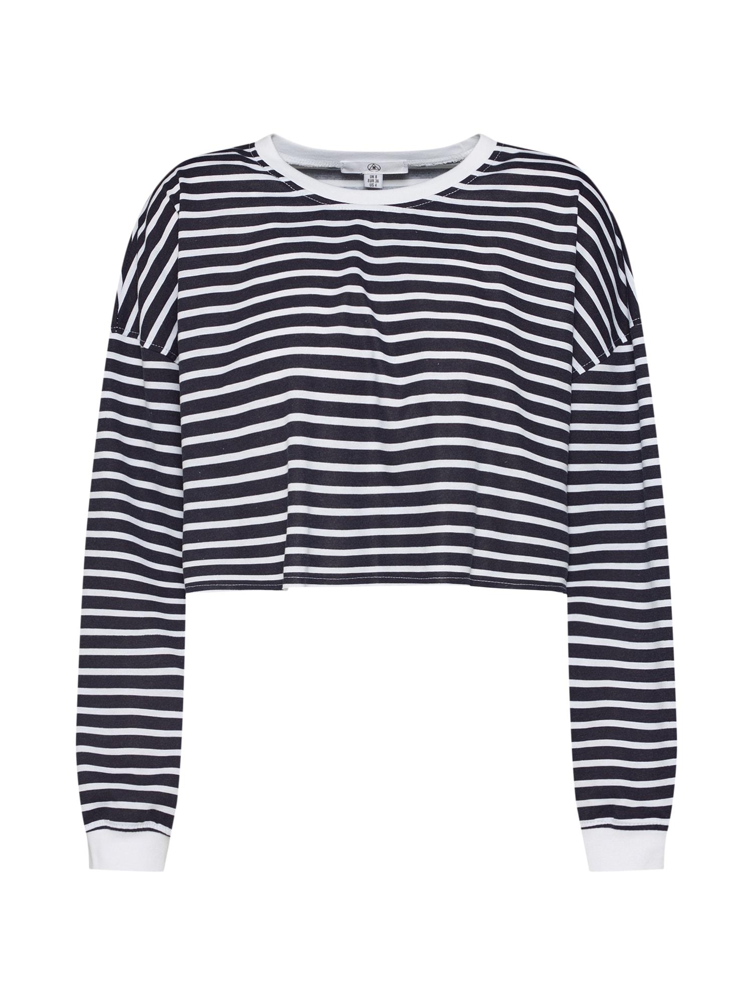 Tričko námořnická modř bílá Missguided