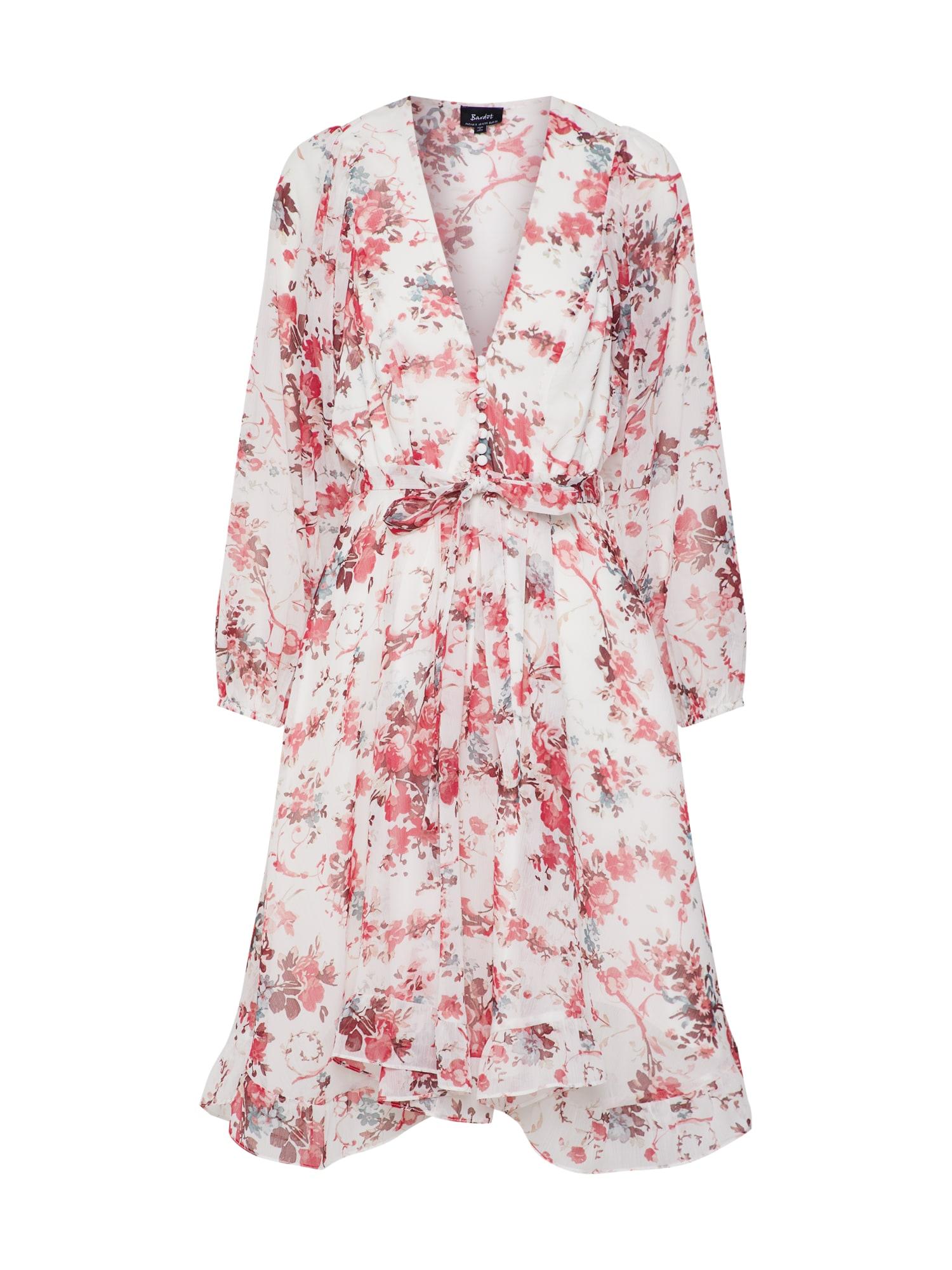 Letní šaty ALEXI FLORAL mix barev Bardot