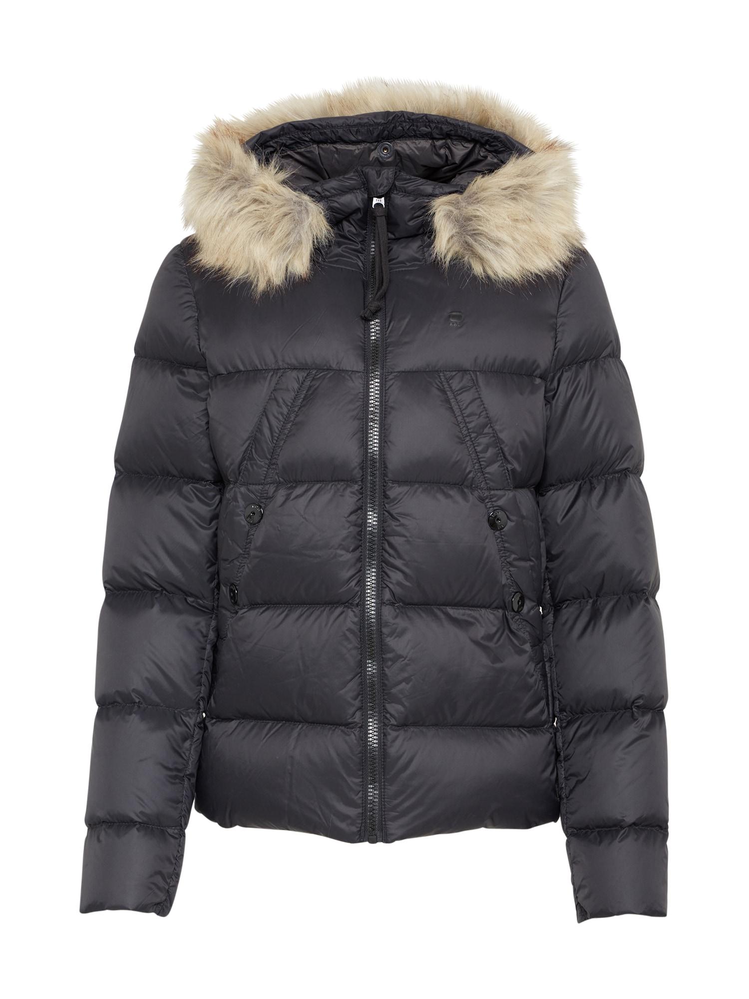 G-STAR RAW Dames Winterjas Whistler Hooded zwart
