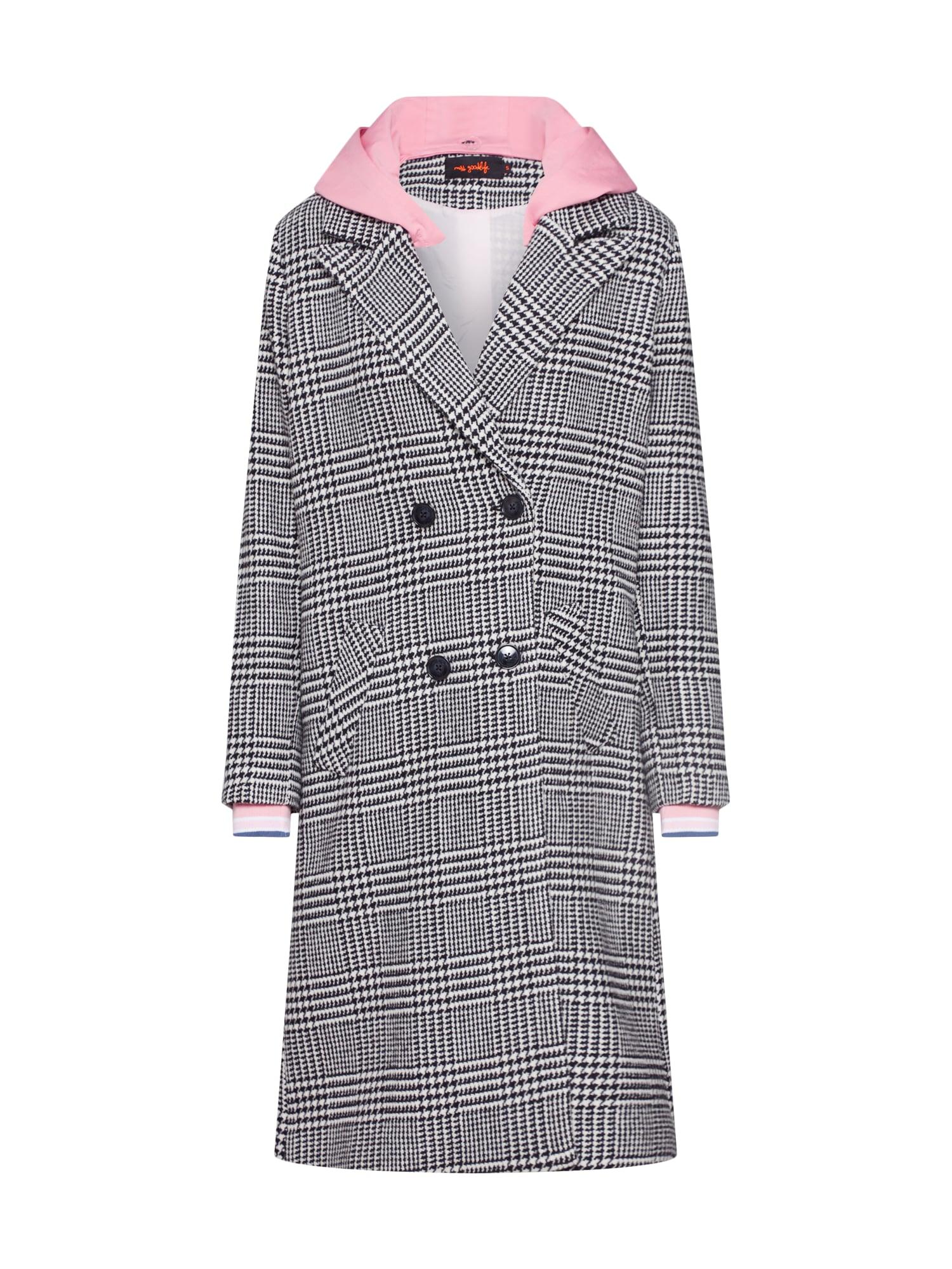 Přechodný kabát pink černá Miss Goodlife