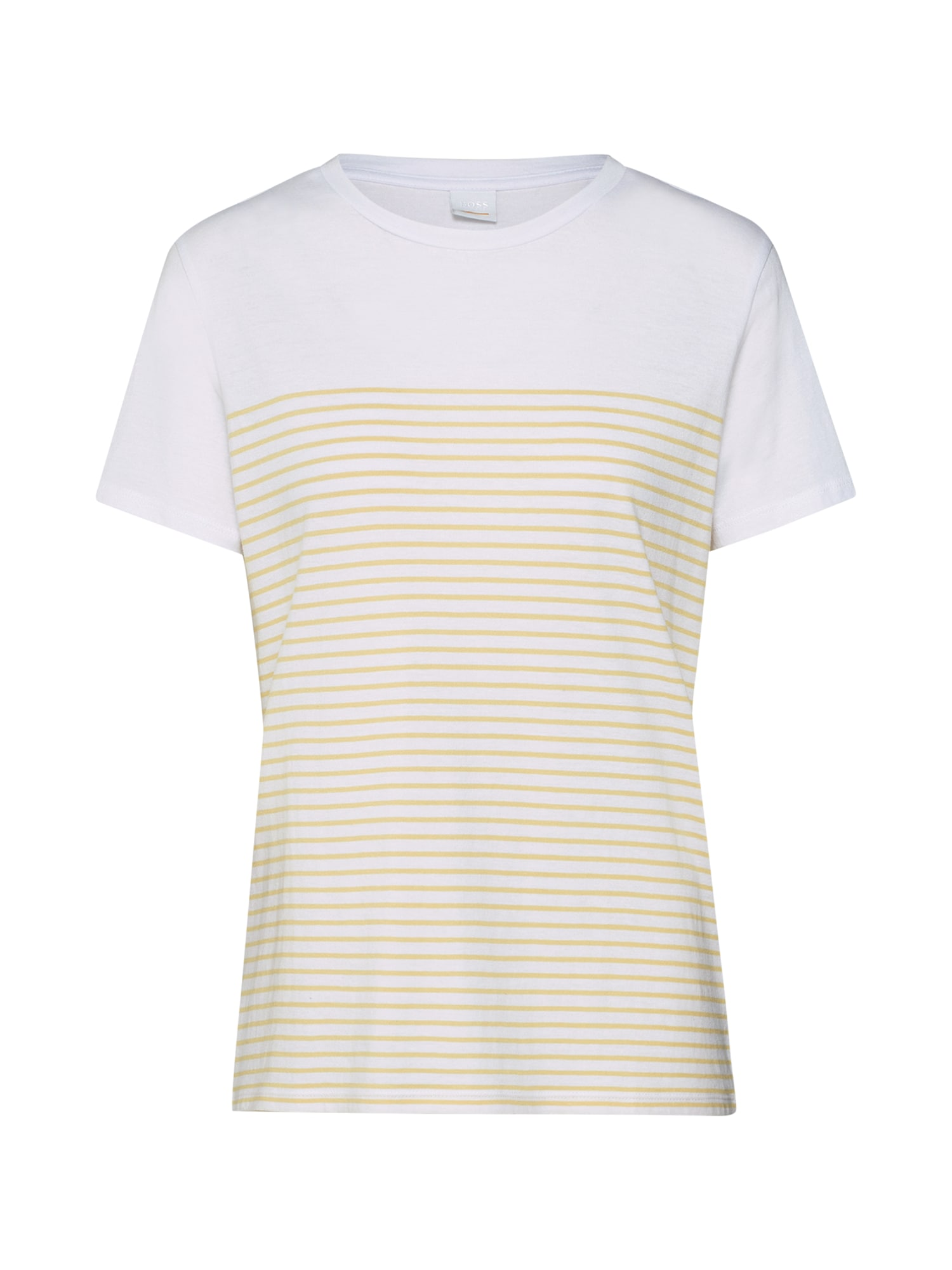 Tričko Tefresh žlutá bílá BOSS