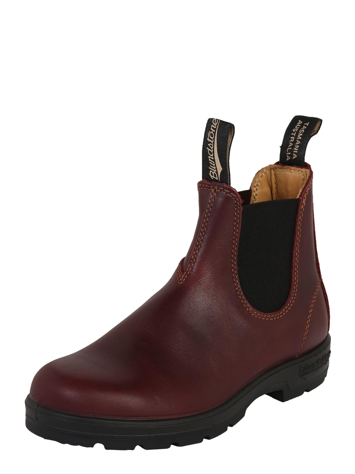 Chelsea boty 1440 hnědá červená Blundstone