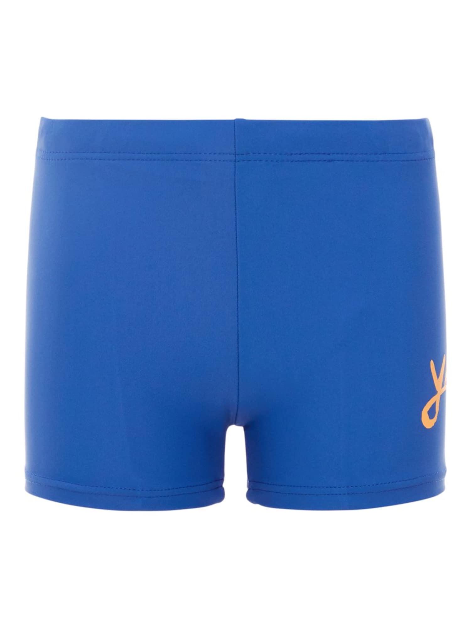 Plavecké šortky modrá oranžová NAME IT