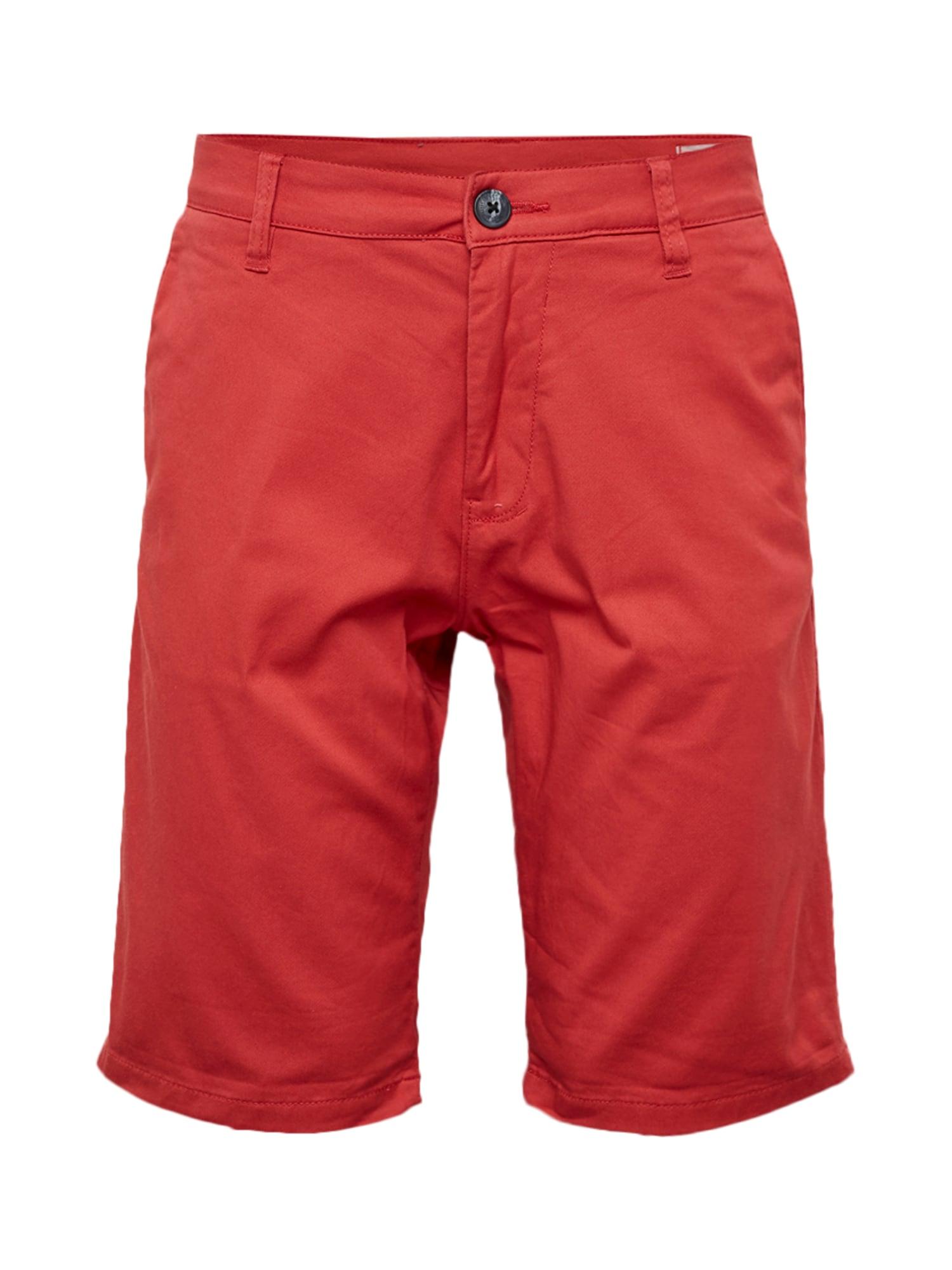 Chino kalhoty červená TOM TAILOR DENIM