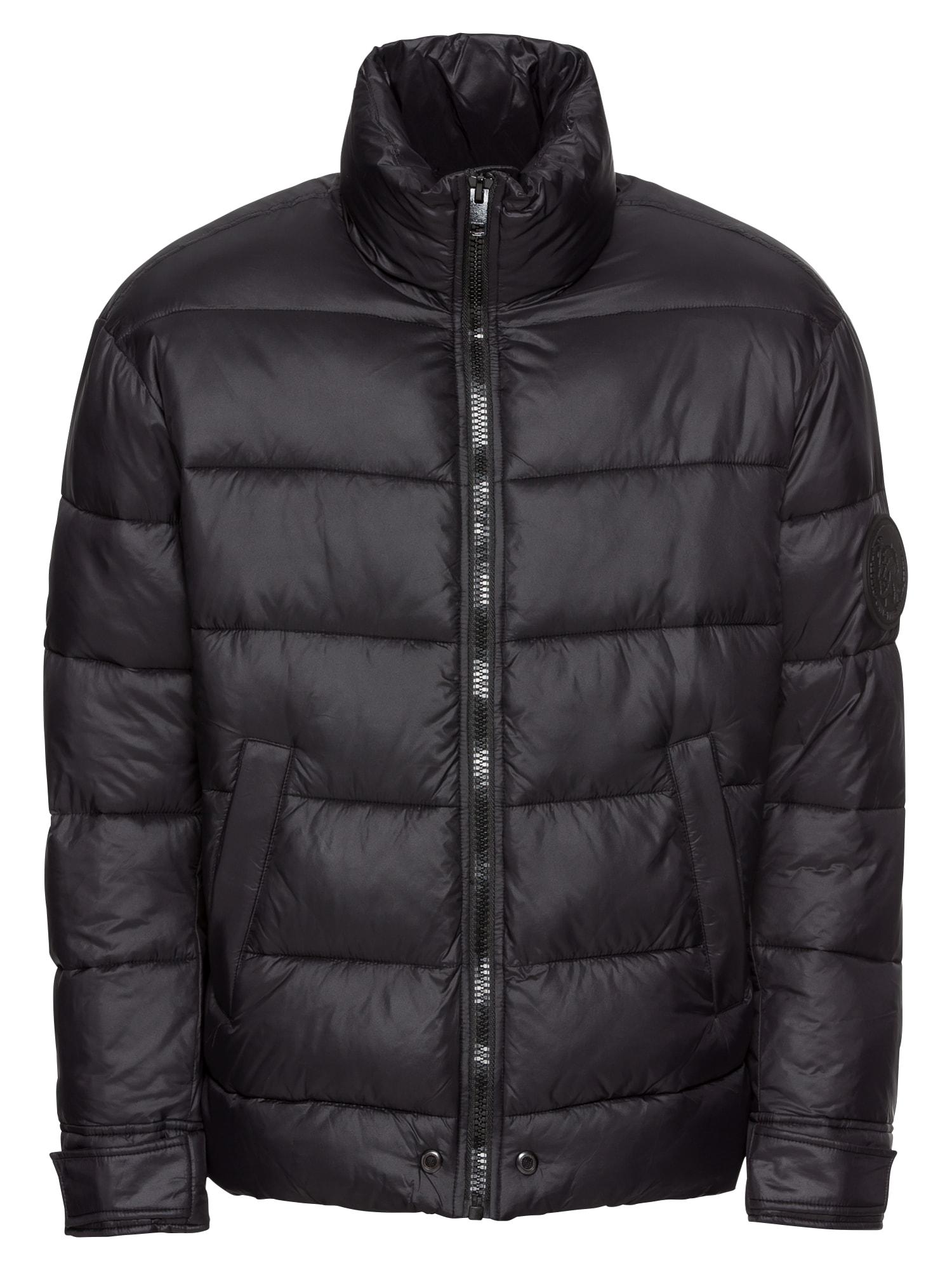 Zimní bunda W-SMITH-A-WH JACKE černá DIESEL