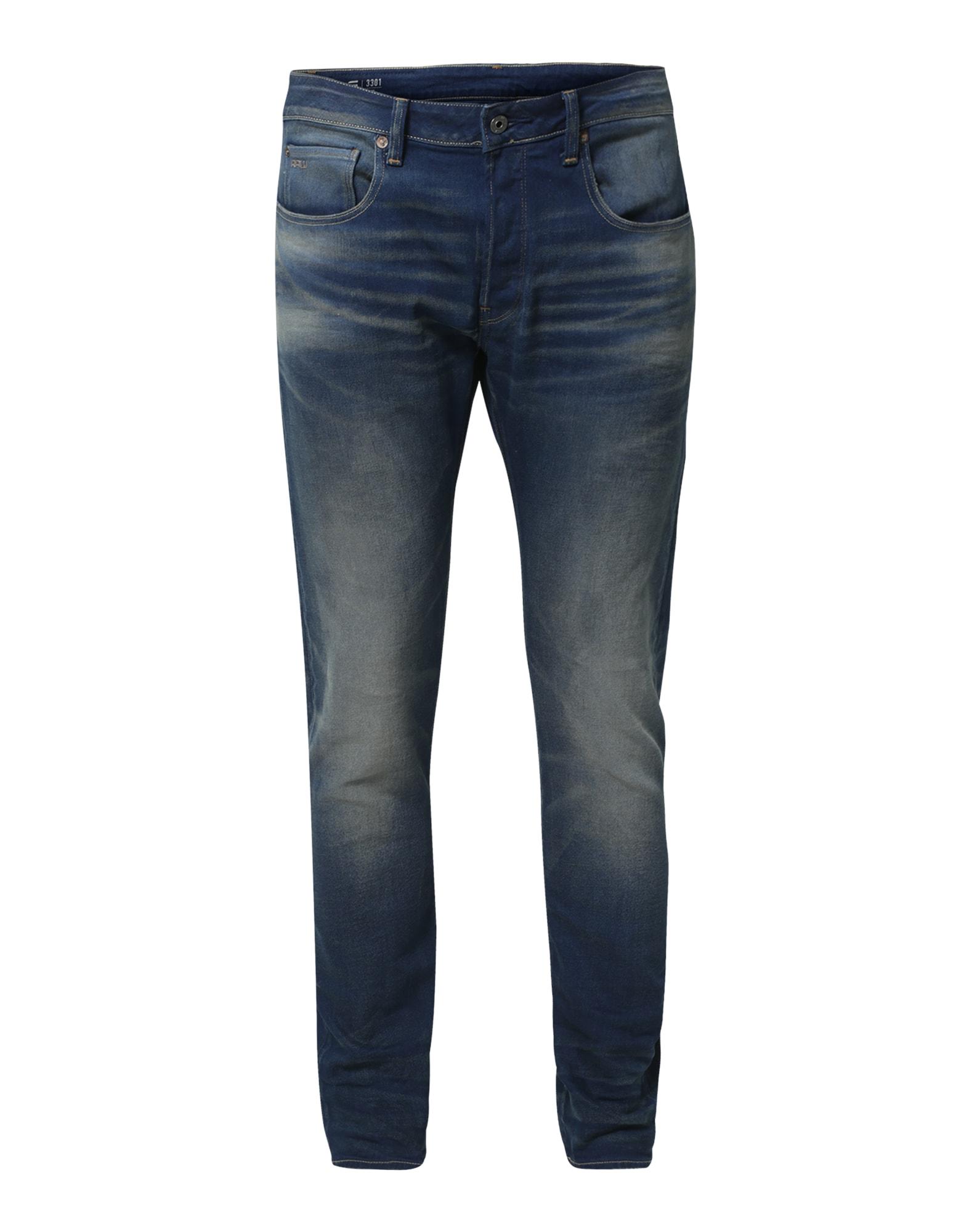 G-STAR RAW Heren Jeans 3301 Slim blauw