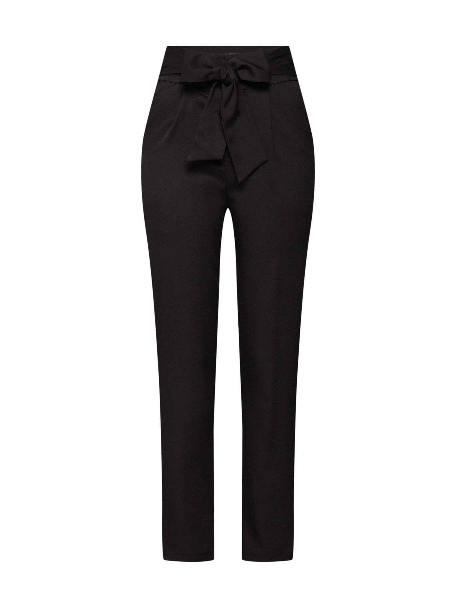 Kalhoty se sklady v pase TINLEY černá Fashion Union