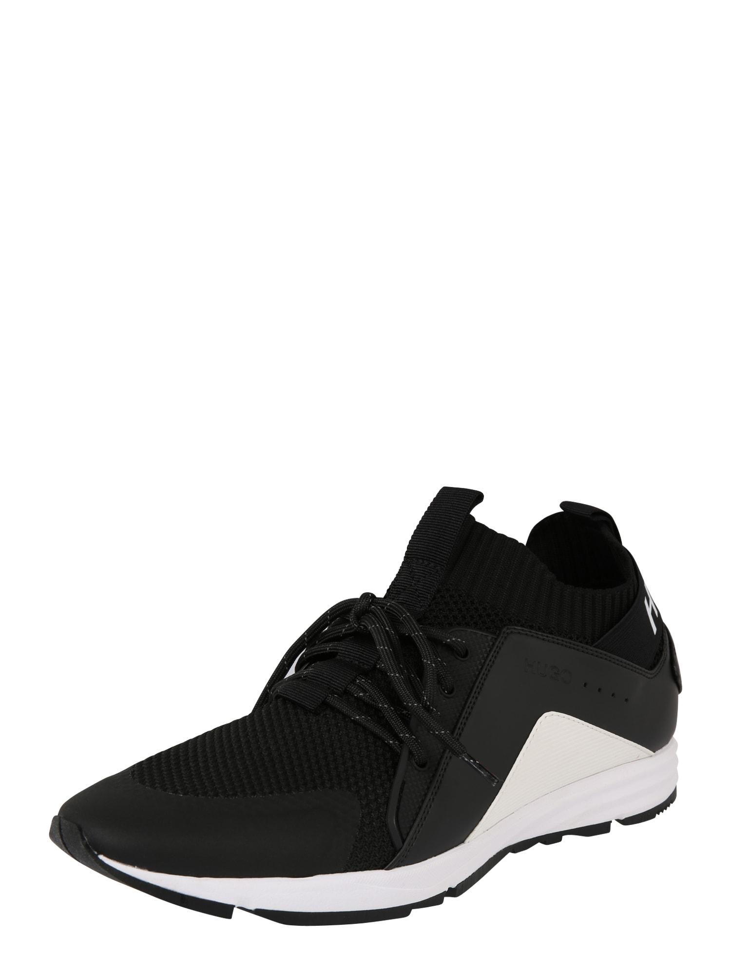 Tenisky Hybrid_Runn_knmx černá bílá HUGO
