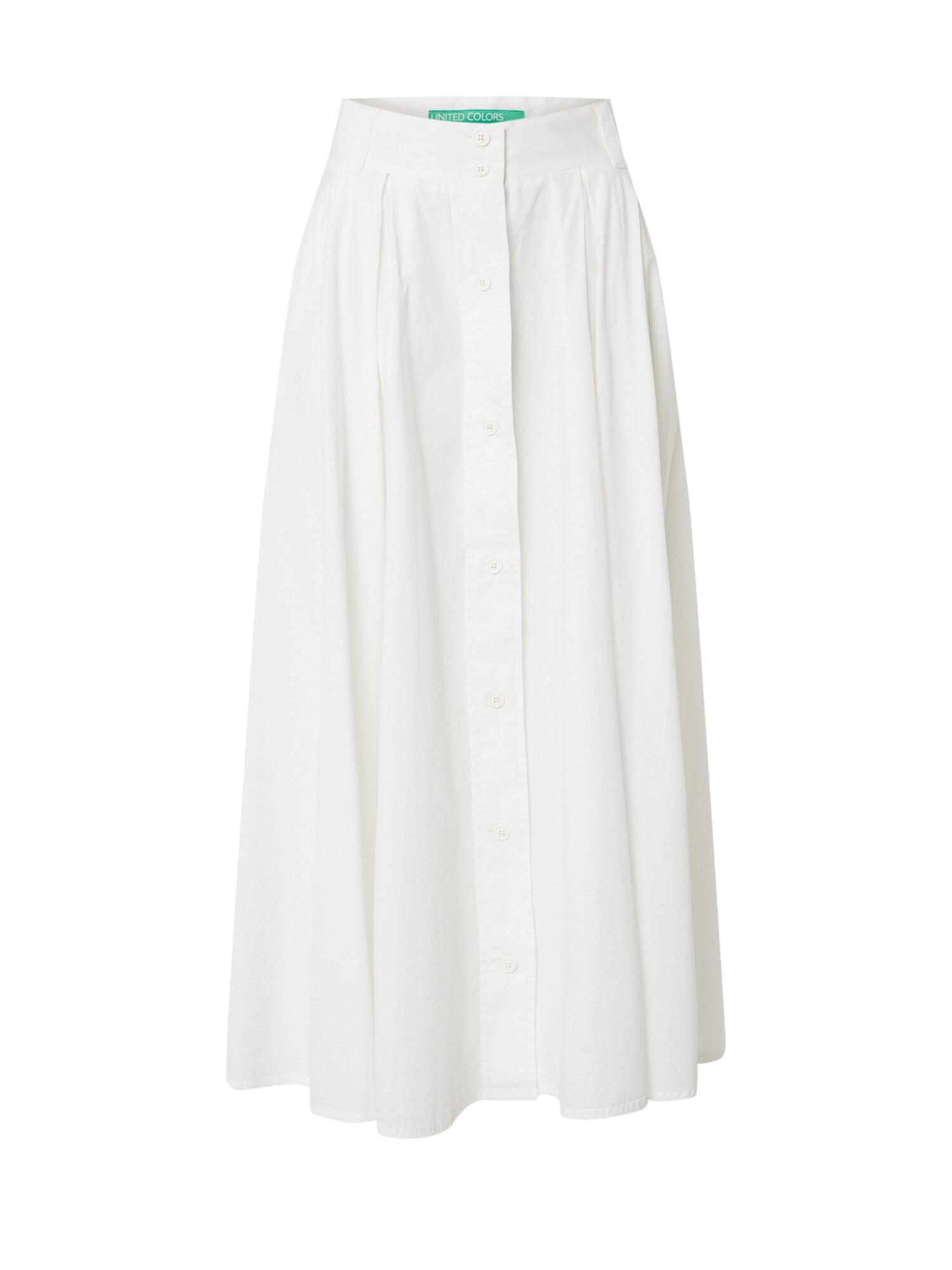 UNITED COLORS OF BENETTON Sukně  bílá