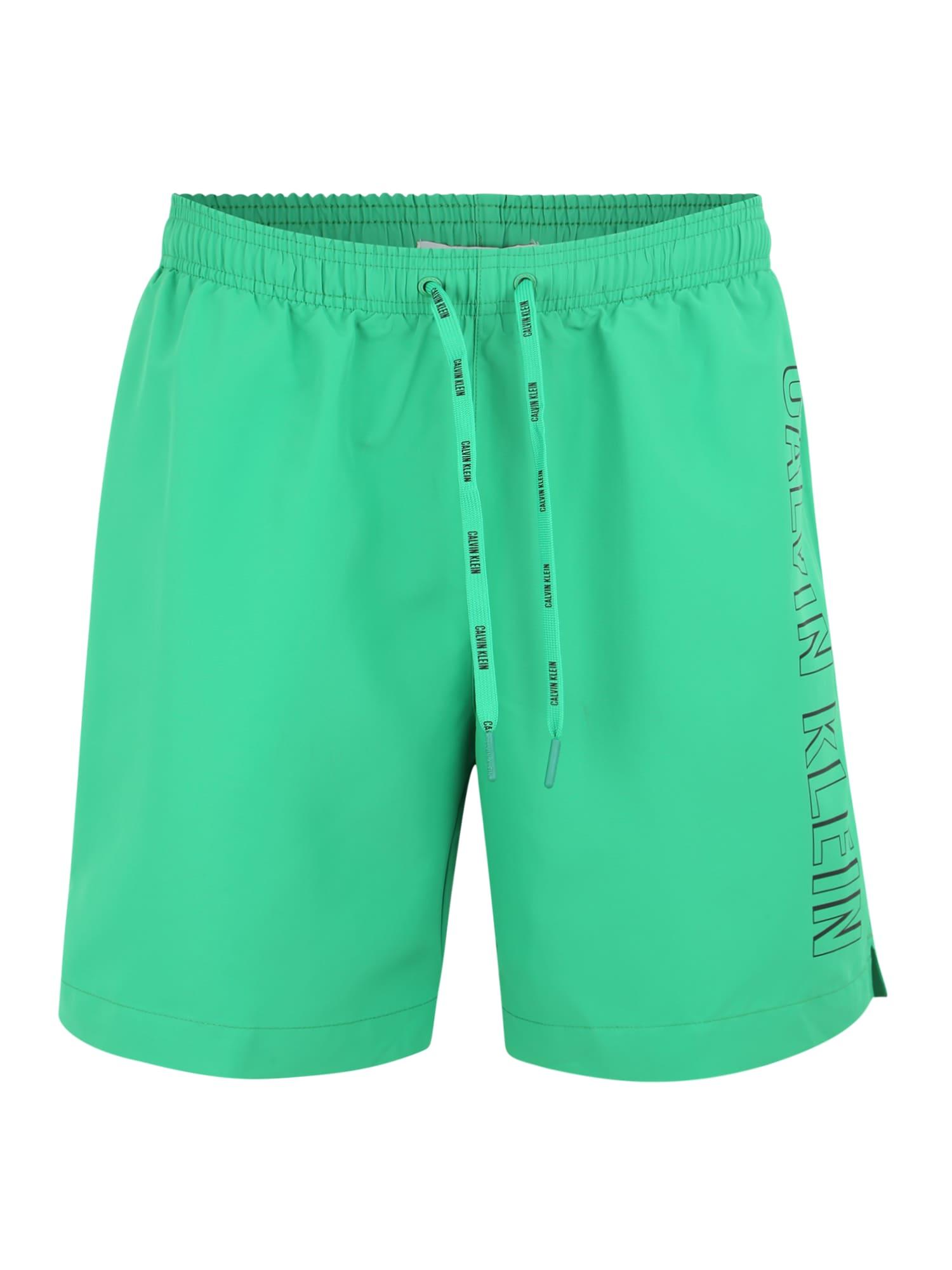 Plavecké šortky MEDIUM DRAWSTRING zelená Calvin Klein Swimwear