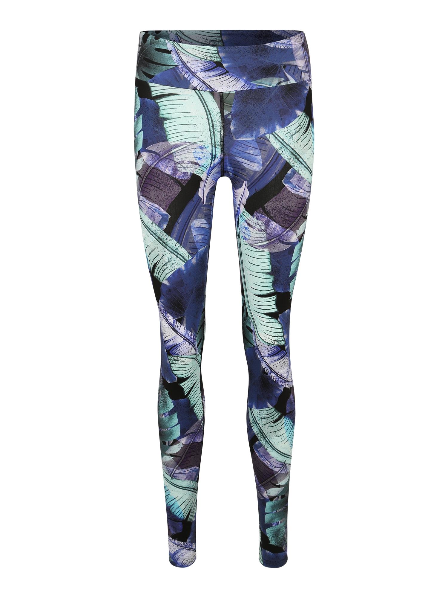Sportovní kalhoty modrá tyrkysová fialová Hey Honey