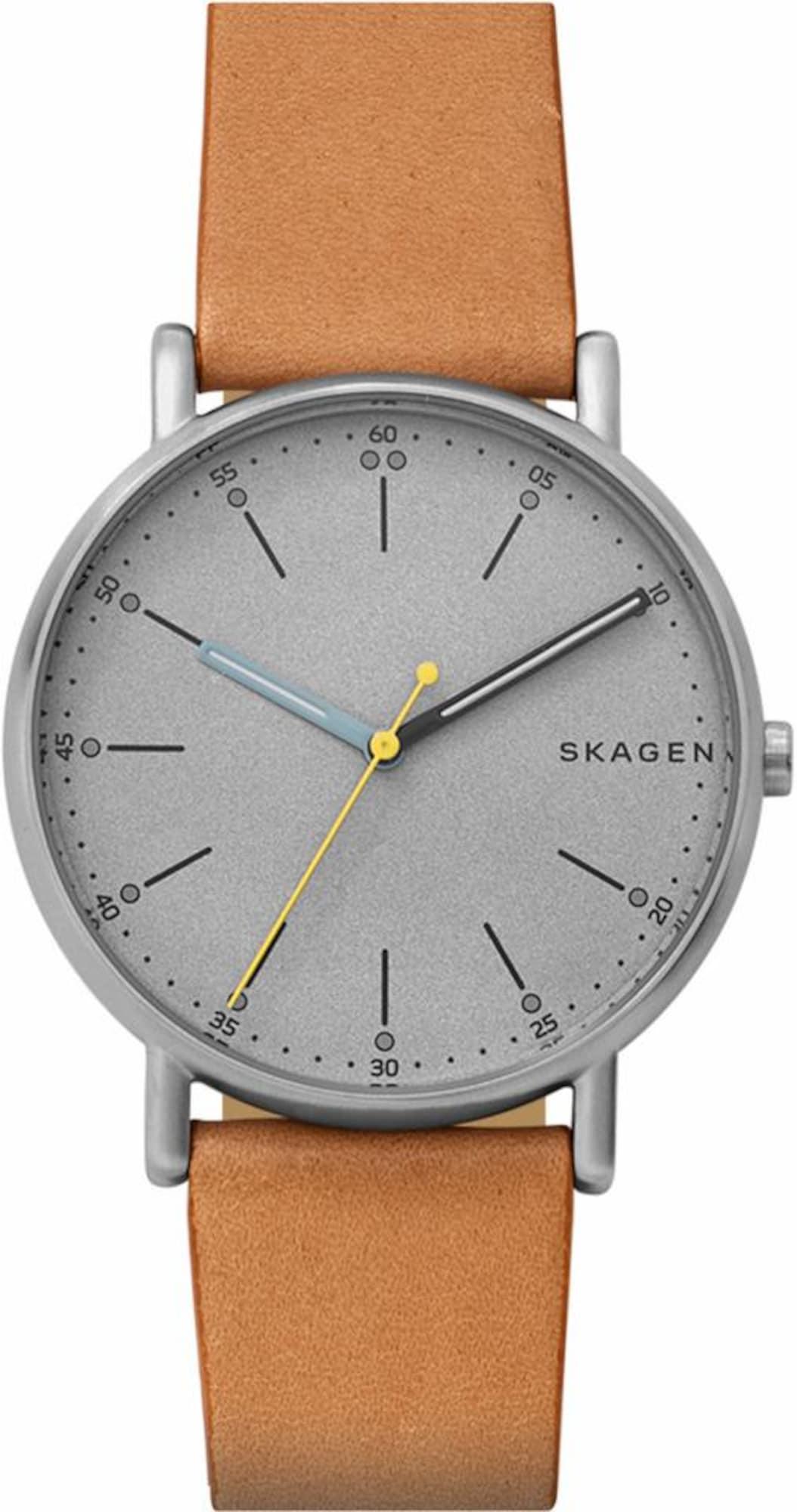 Quarzuhr »SIGNATUR, SKW6373« | Uhren > Quarzuhren | Braun - Silber | skagen