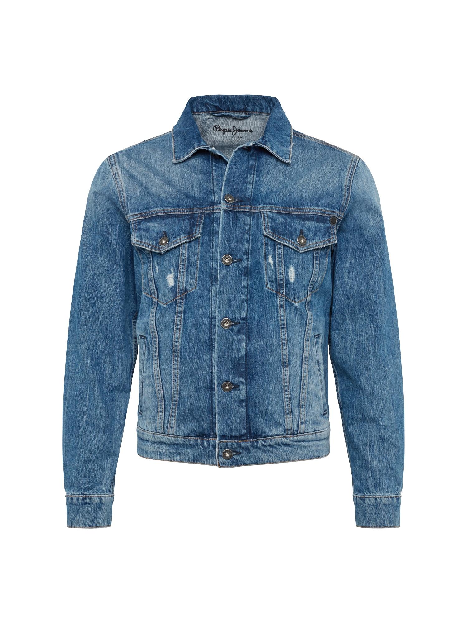 Přechodná bunda Pinner modrá džínovina Pepe Jeans