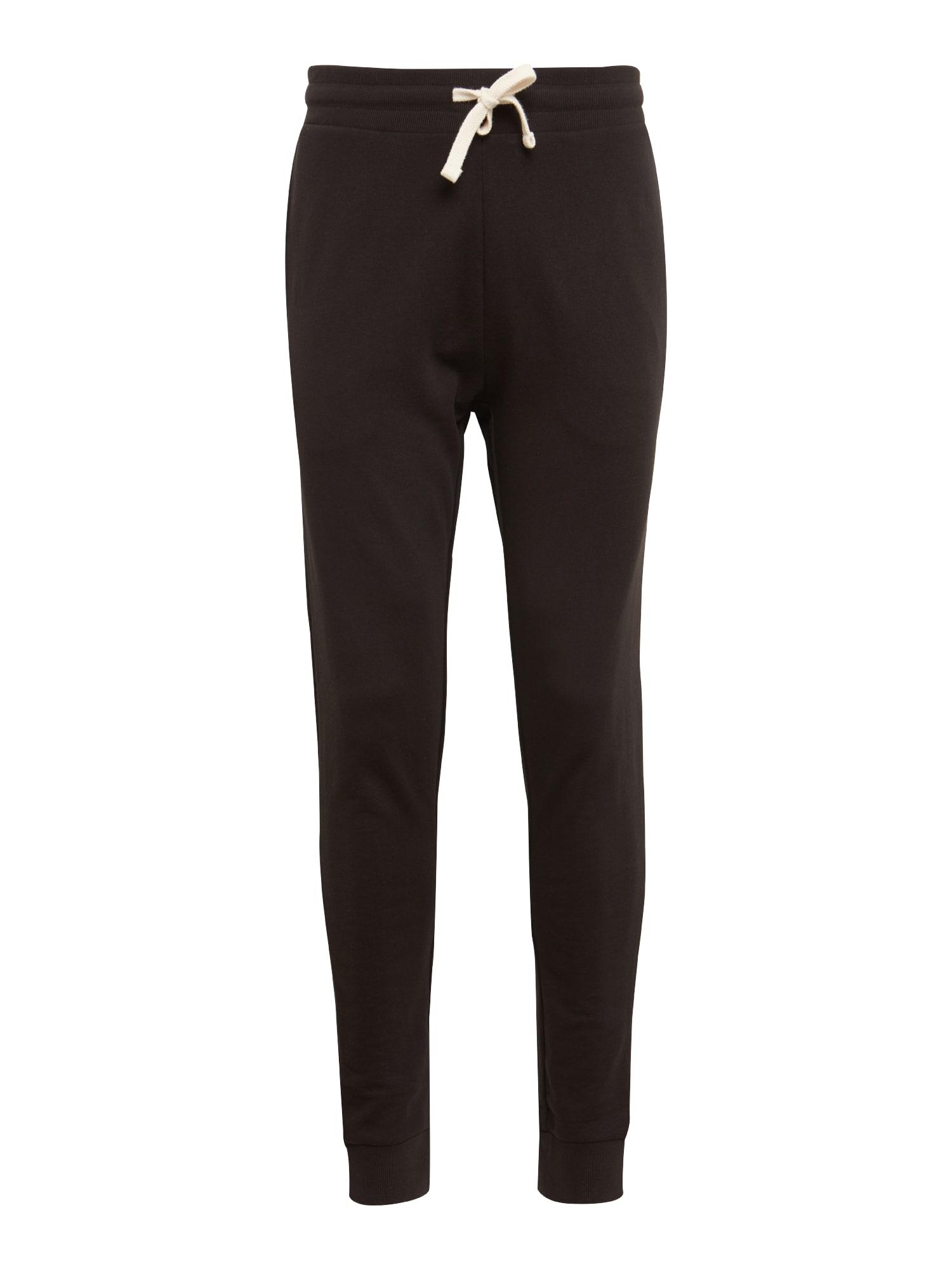 Kalhoty JJEHOLMEN SWEAT PANTS NOOS černá JACK & JONES