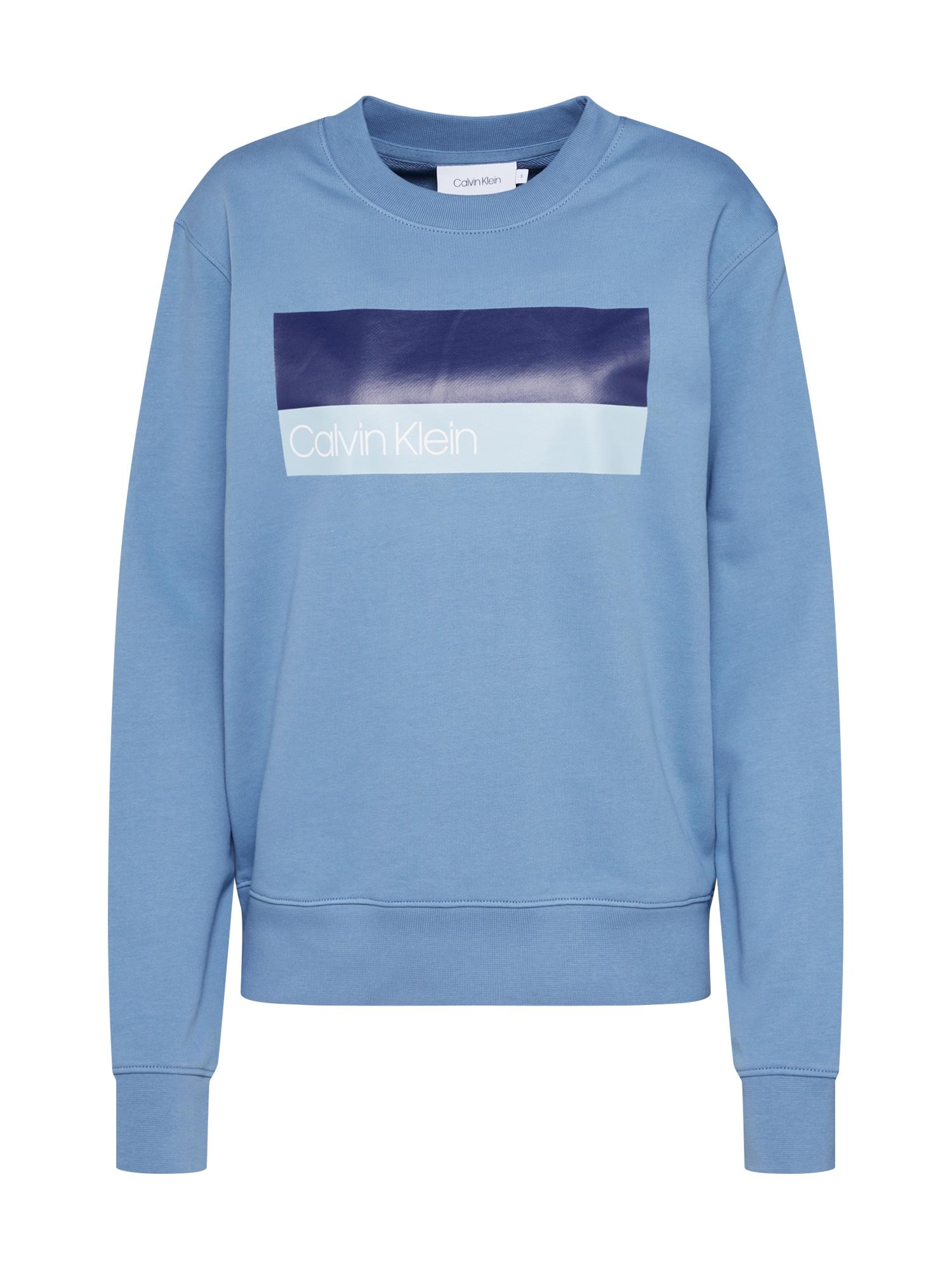 Sweatshirts  'DUO LOGO PRT SWEATSHIRT LS' | Bekleidung > Sweatshirts & -jacken > Sweatshirts | Blau | Calvin Klein