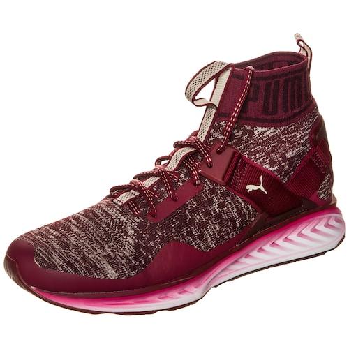 Dieser Sneaker ist die perfekte Symbiose aus dem Ignite Laufschuh und angesagter Streetwear, die Bewegung in deine Alltags-Outfits bringt. Die Obermaterial-Konstruktion aus gestricktem Textil und modischen Overlays sorgt für beste Atmungsaktivität und einen lä