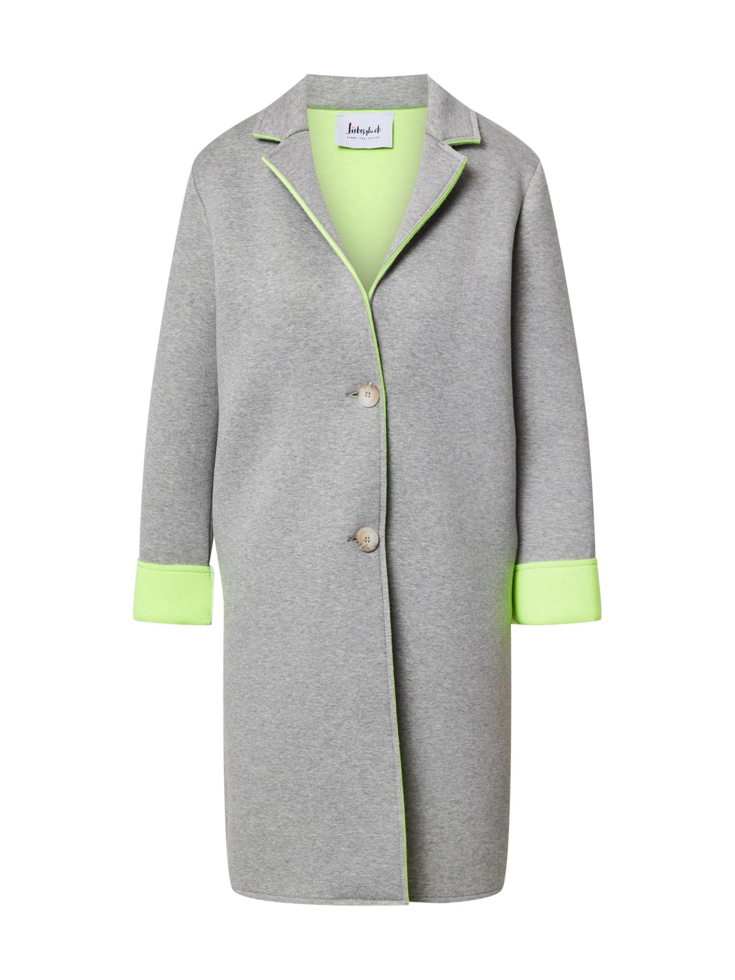 Liebesglück Přechodný kabát  šedý melír