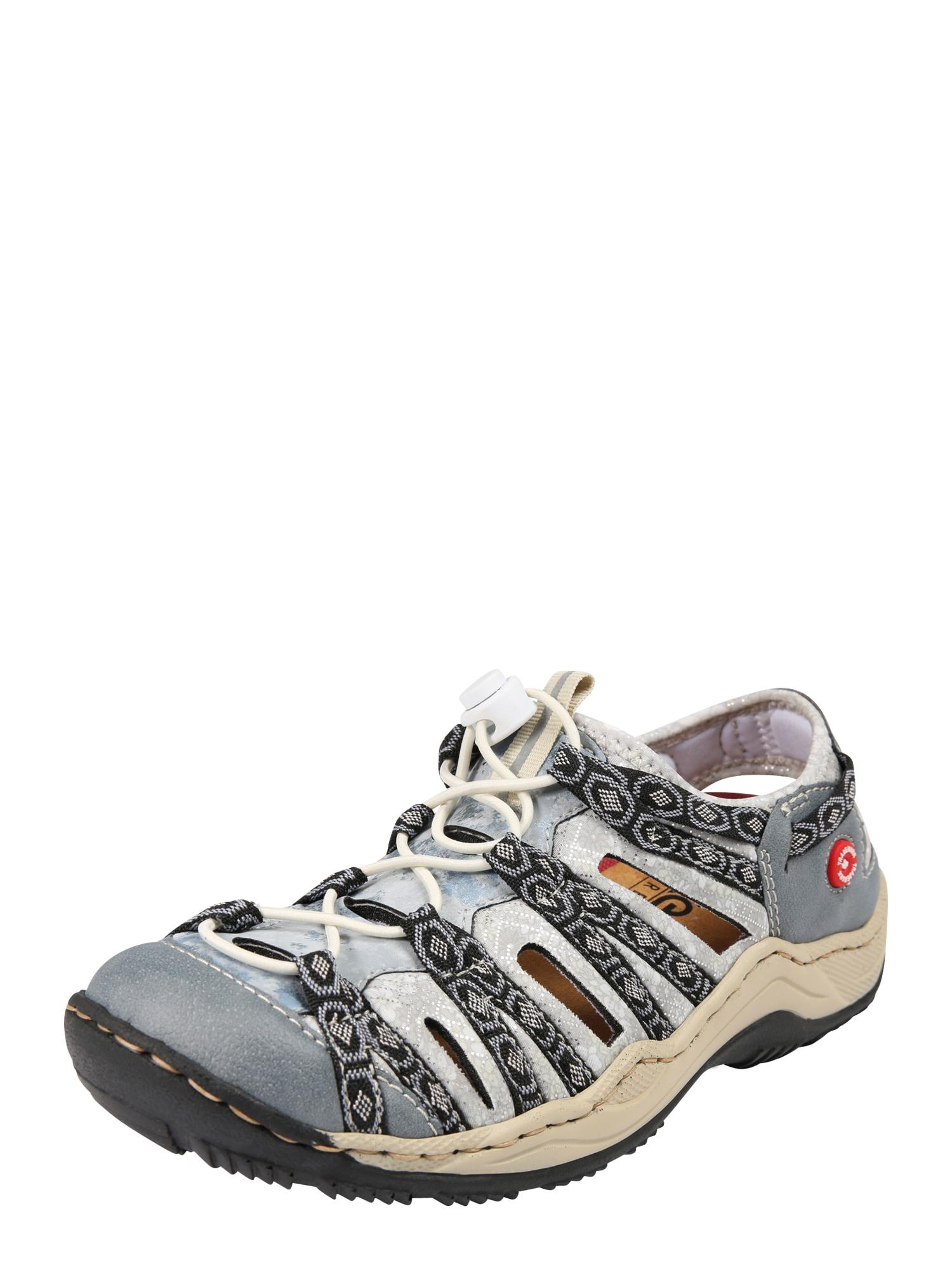 Sportovní šněrovací boty béžová chladná modrá černá RIEKER