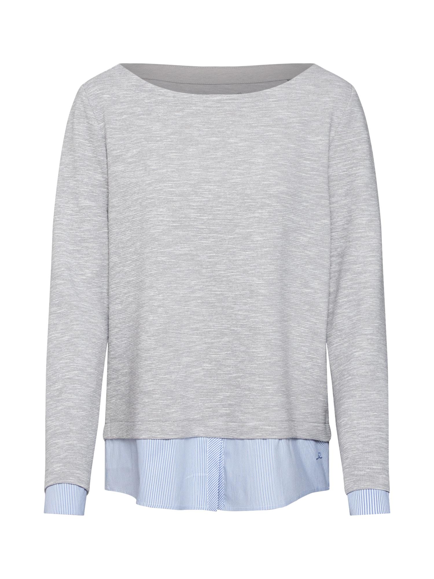 S.Oliver RED LABEL, Dames Sweatshirt, grijs gemleerd