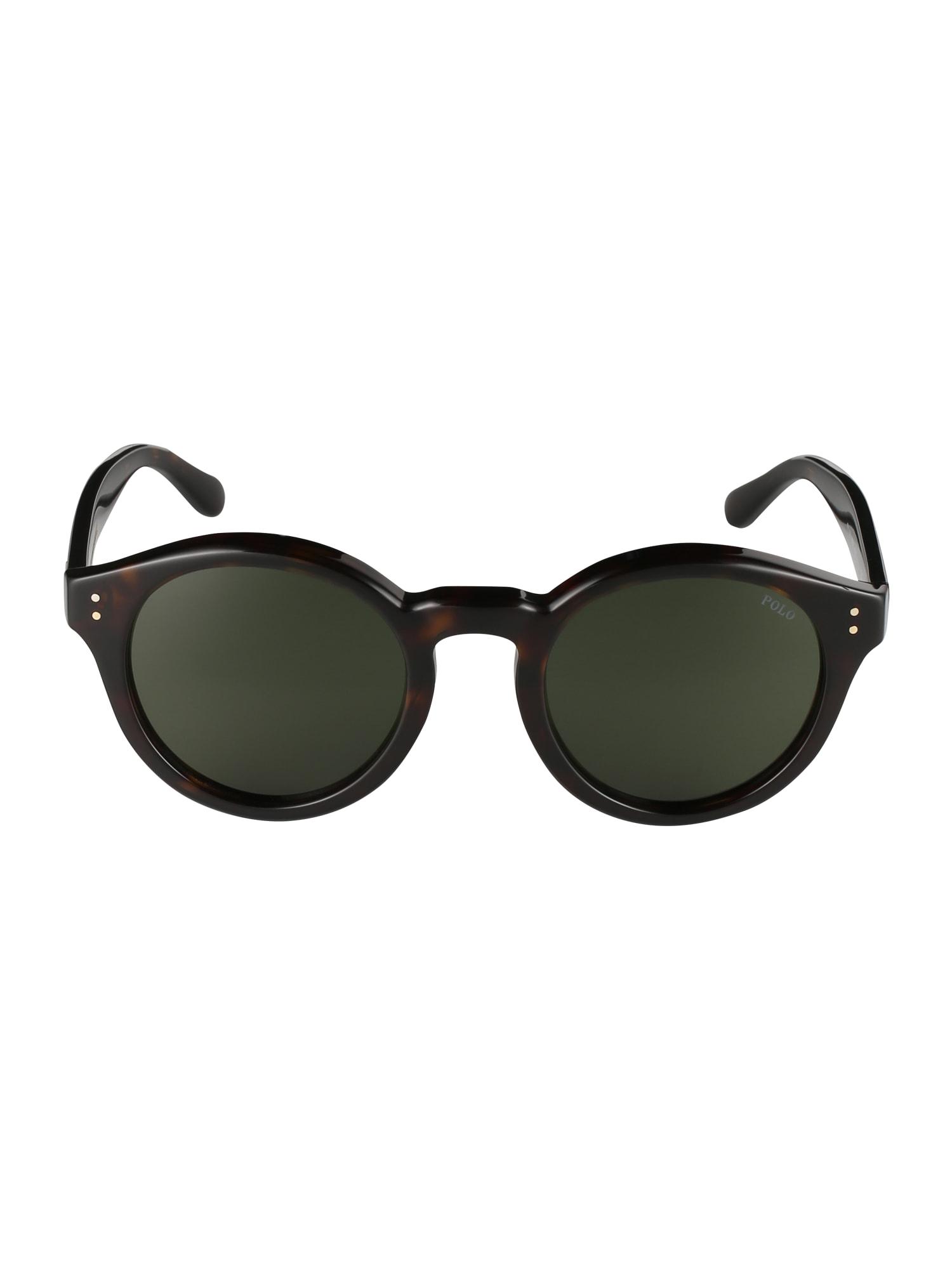 Sluneční brýle tmavě hnědá POLO RALPH LAUREN