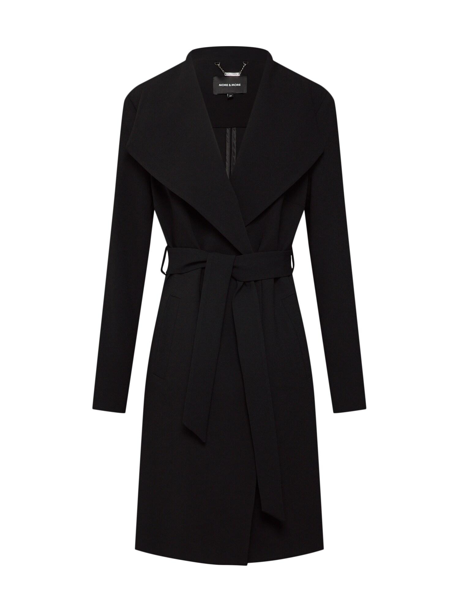 Přechodný kabát Active černá MORE & MORE