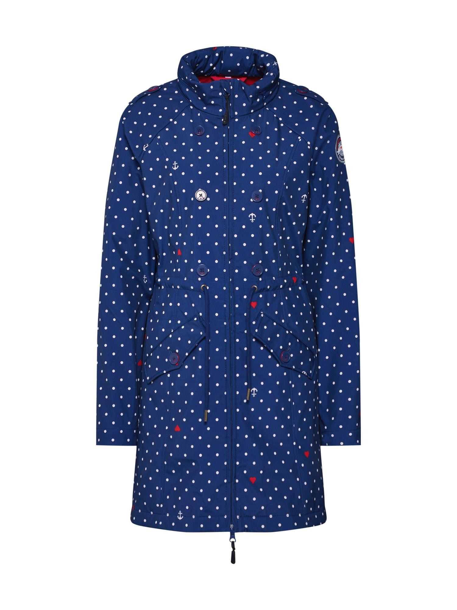 Přechodný kabát swallowtail promenade  námořnická modř červená bílá Blutsgeschwister